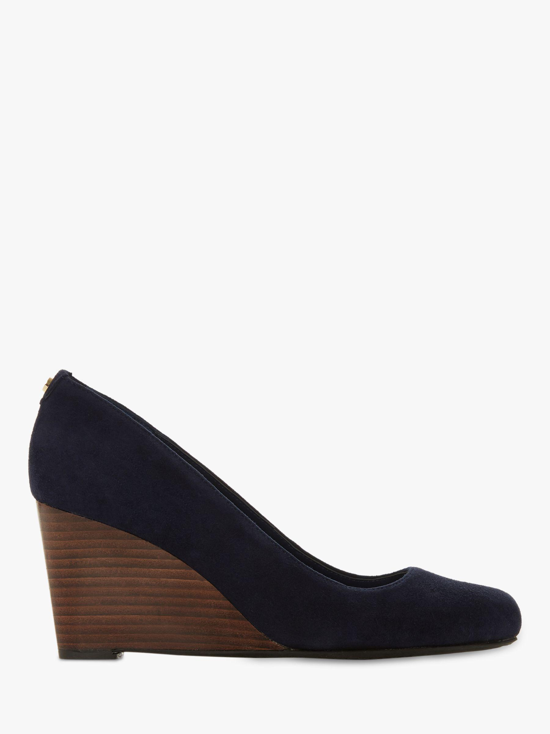 7db0f0410b3 Dune Alixxe Wedge Heel Court Shoes in Blue - Save 6.666666666666671 ...