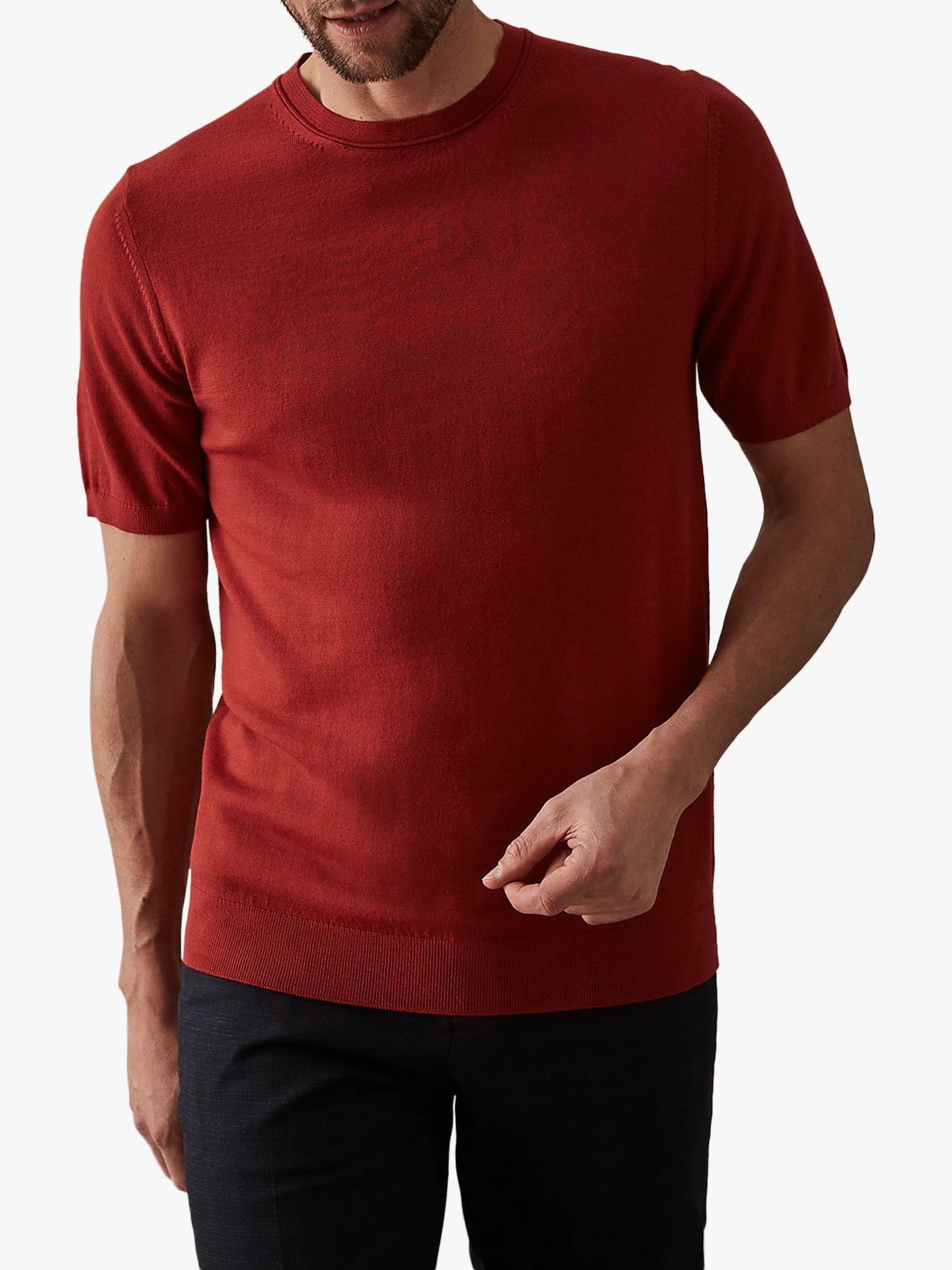 9ac553954d1 Reiss Wiltshire Merino Short Sleeve Jumper in Red for Men - Lyst