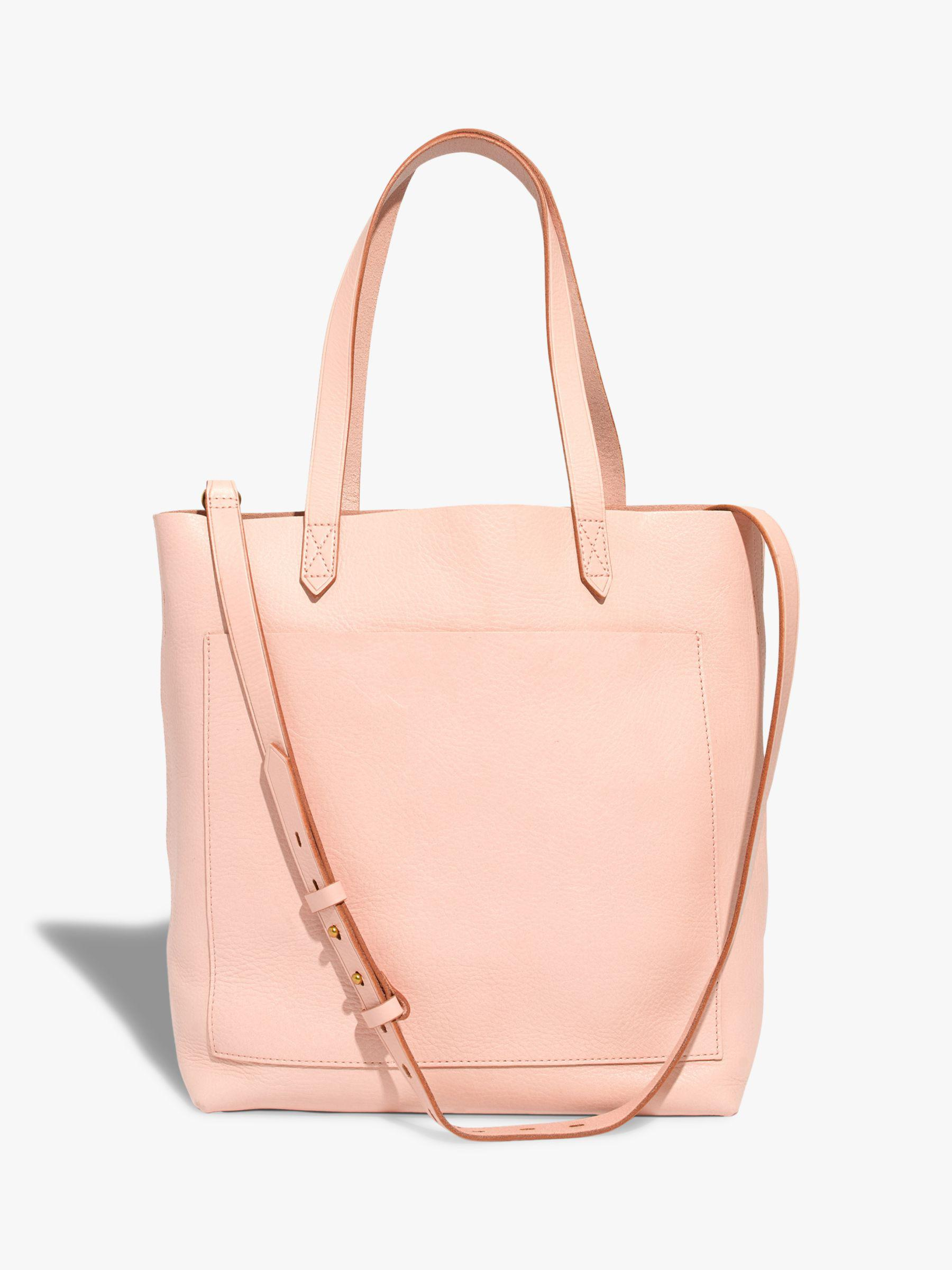 6b696c34b Madewell Leather Medium Transport Tote Bag in Pink - Lyst