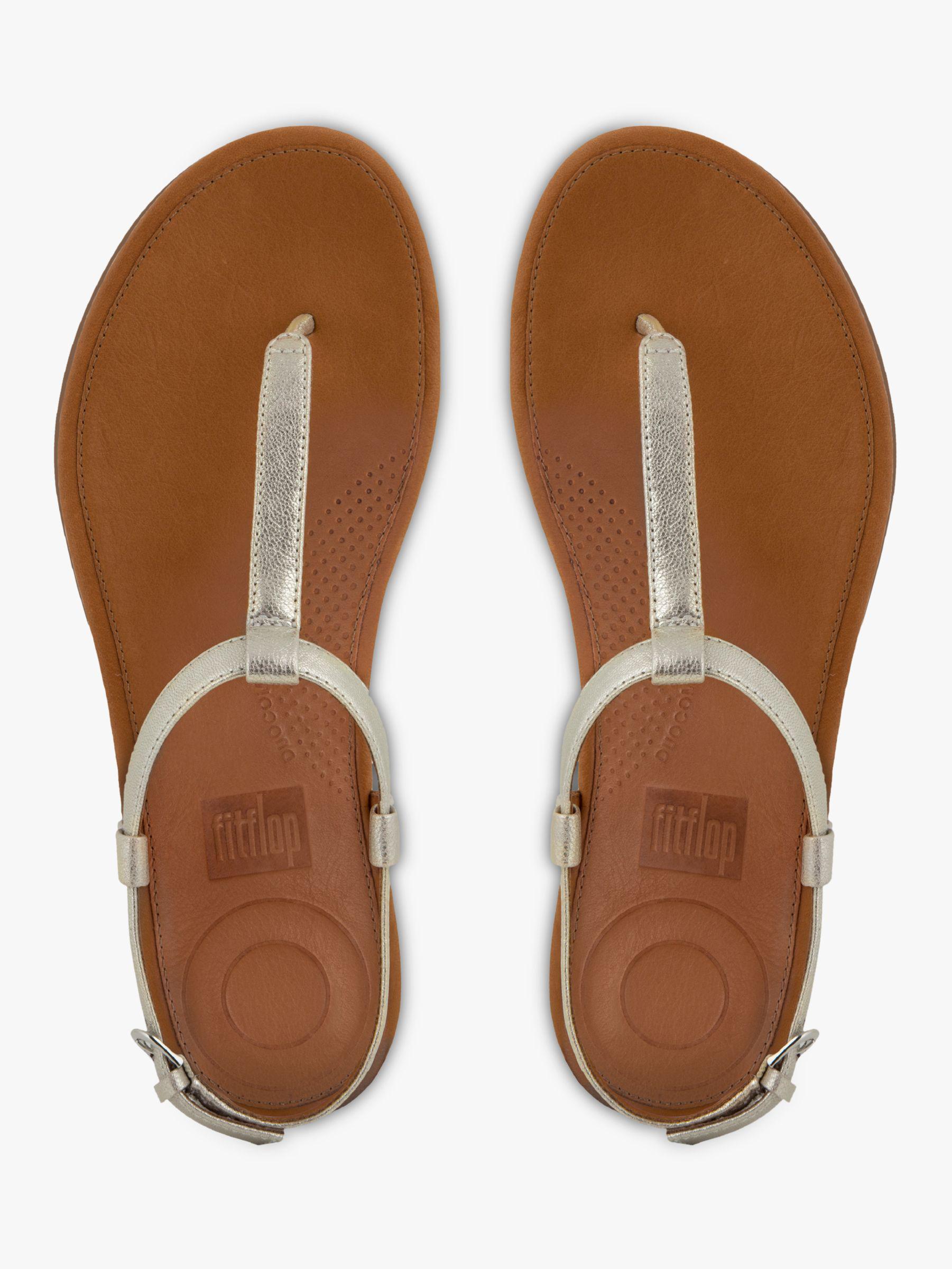 82c6119adbb Fitflop Tia Toe Post Sandals in Brown - Lyst