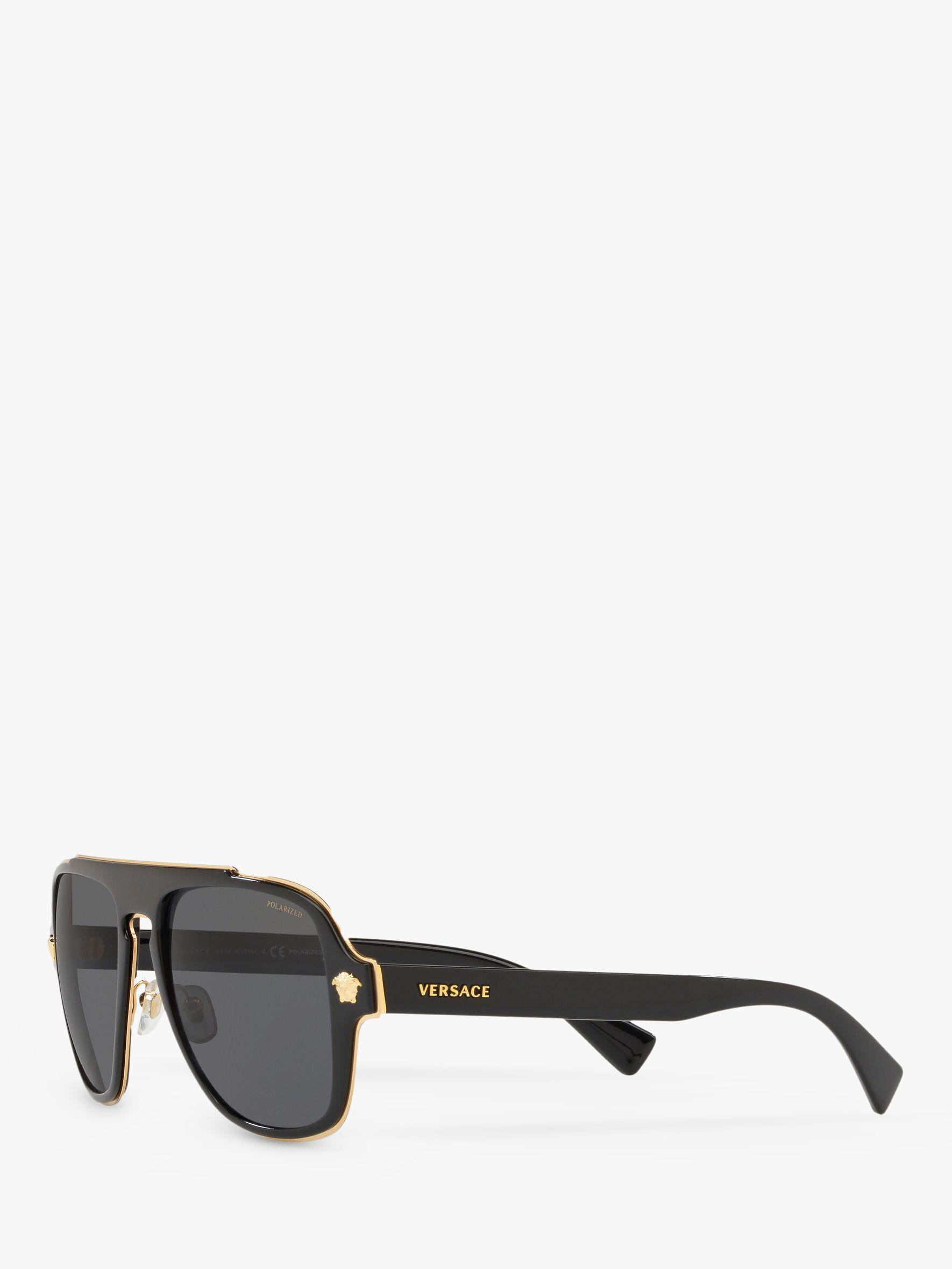 6706da5cc839 Versace Ve2199 Men s Polarised Geometric Sunglasses in Black for Men - Lyst