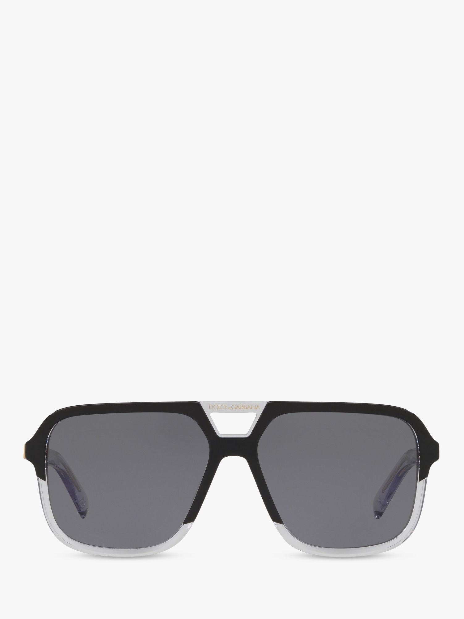 01282081cfe7a Dolce   Gabbana Dg4354 Men s Polarised Square Sunglasses in Black ...