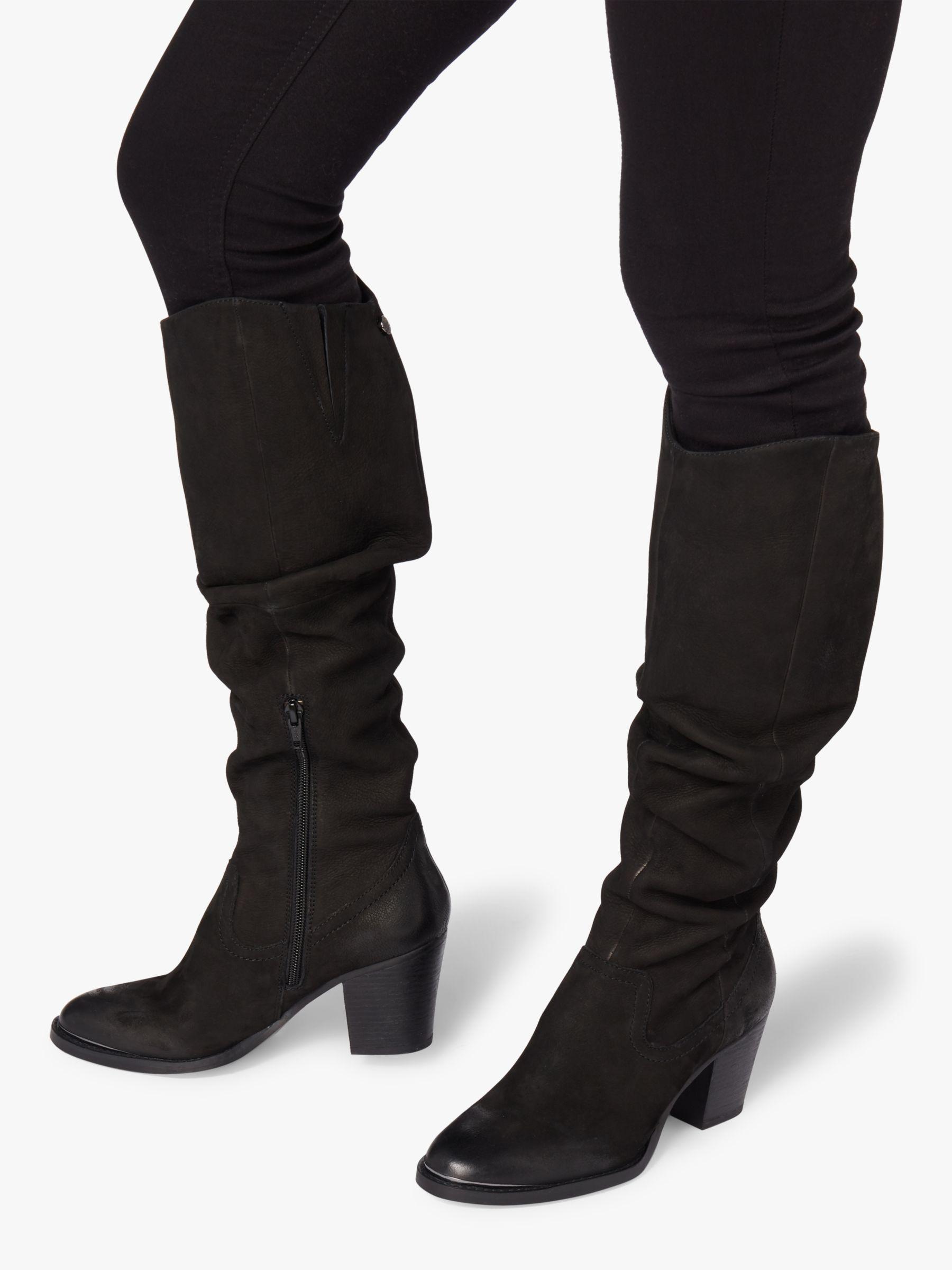 fd1d9ddceff Steve Madden Rova Knee High Boots in Black - Lyst