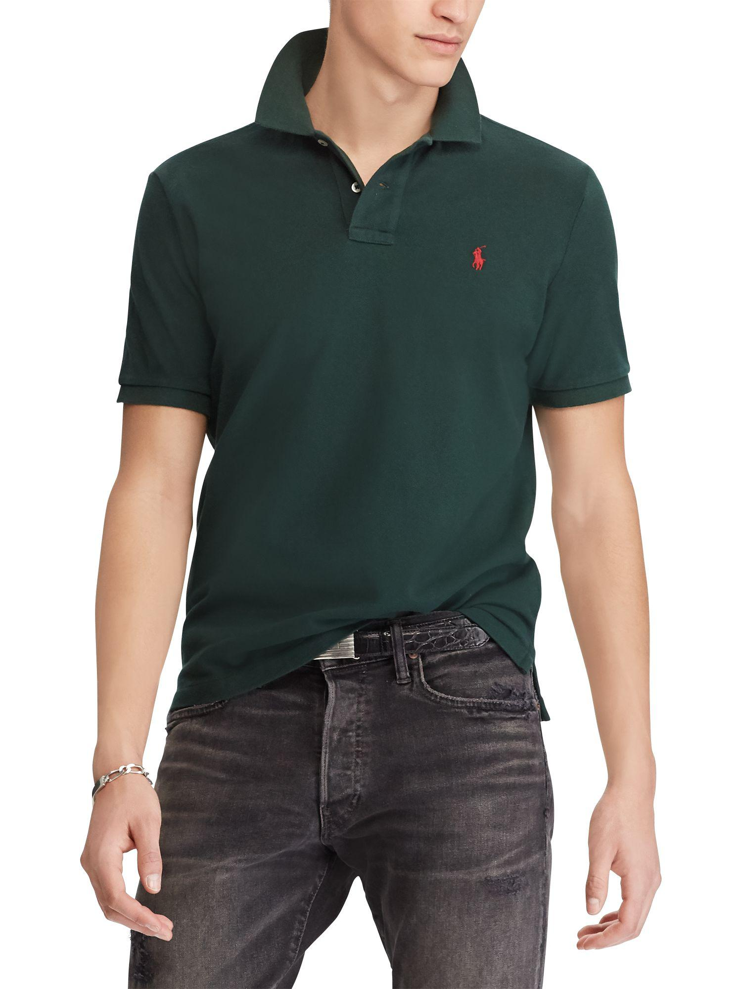 e49295de8 Ralph Lauren. Men's Green Polo Slim Fit Stretch Mesh Polo Shirt. £52 From John  Lewis and Partners