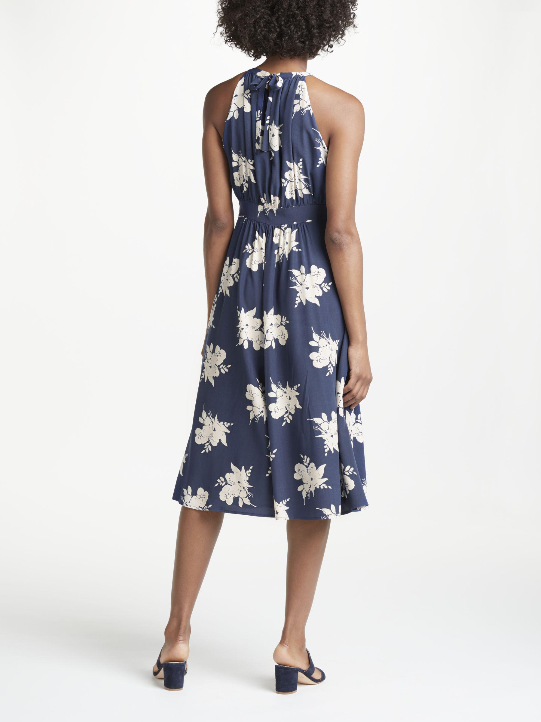 469bb8bbb50d Boden Agnes Halterneck Floral Print Midi Dress in Blue - Lyst