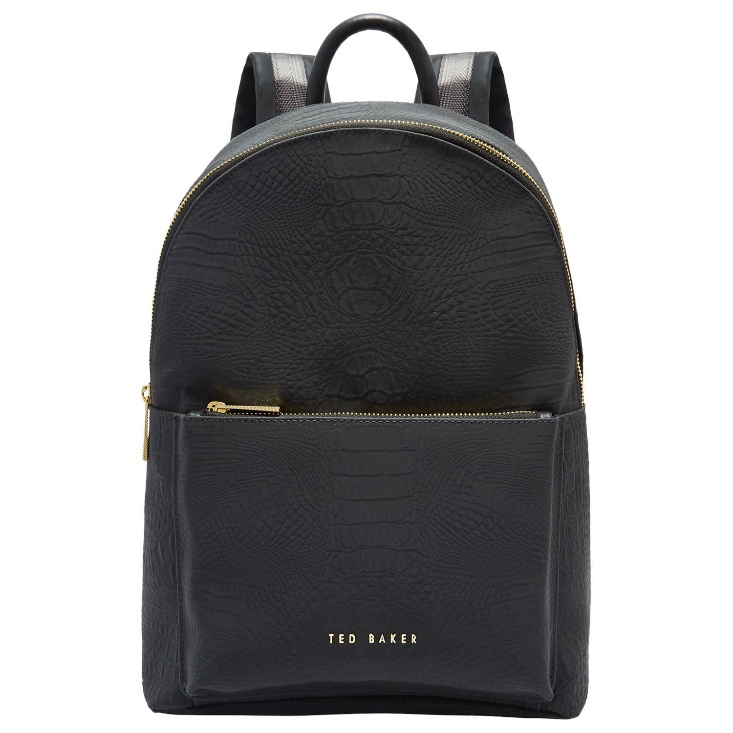 4d1b89d906937 Ted Baker Creaala Leather Croc Effect Backpack in Black - Lyst