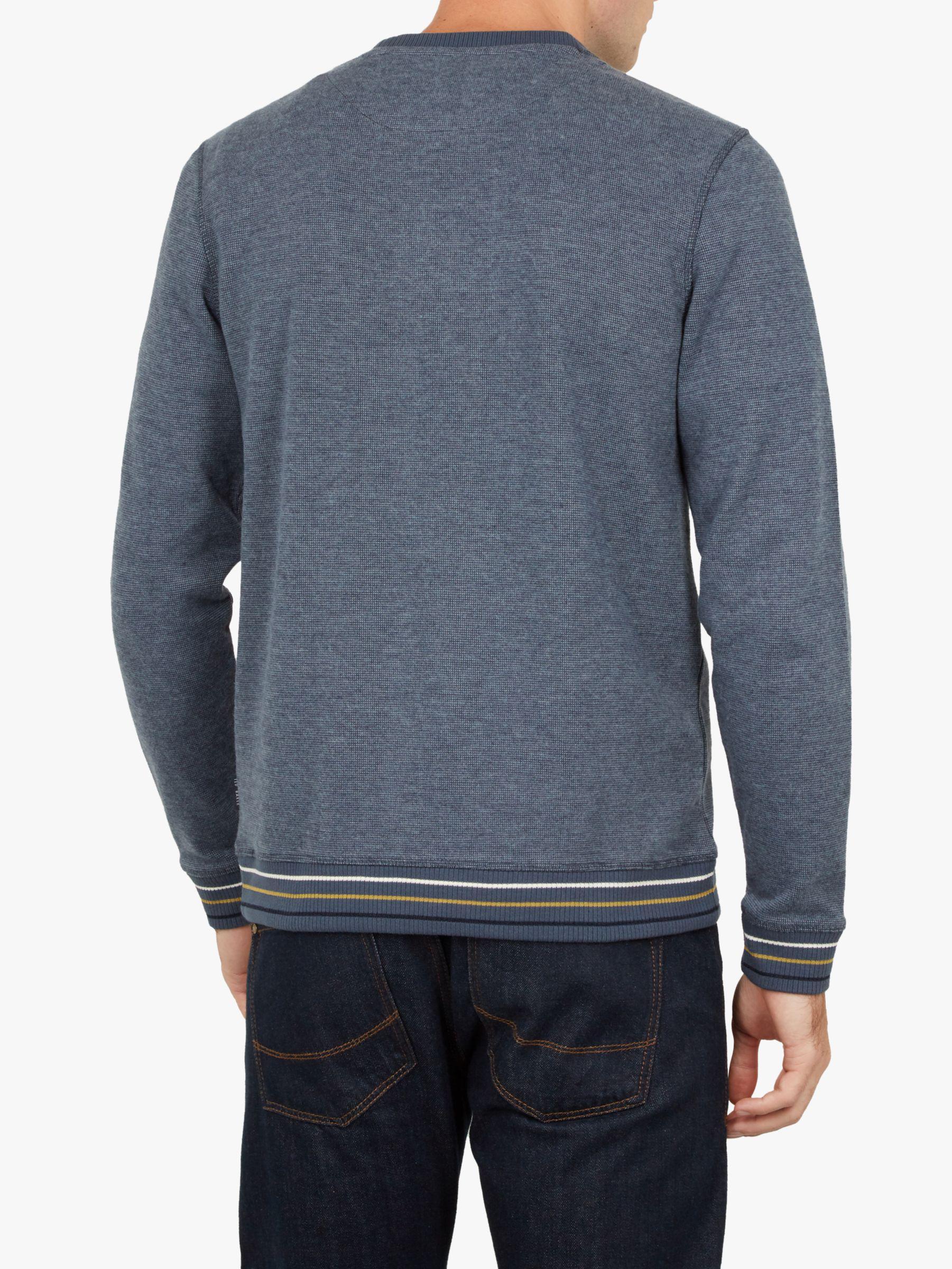 a6fad4ac3 Ted Baker Sahera Jersey Sweatshirt in Blue for Men - Lyst