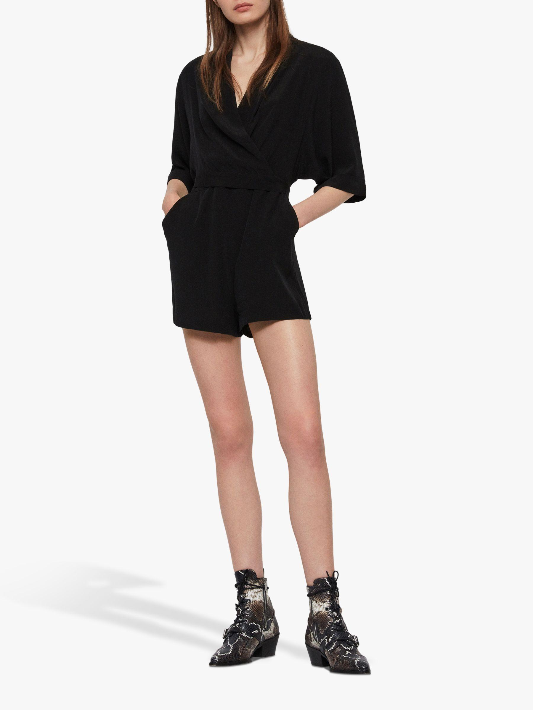 c42dff10b7 AllSaints - Black Laurel Playsuit - Lyst. View fullscreen