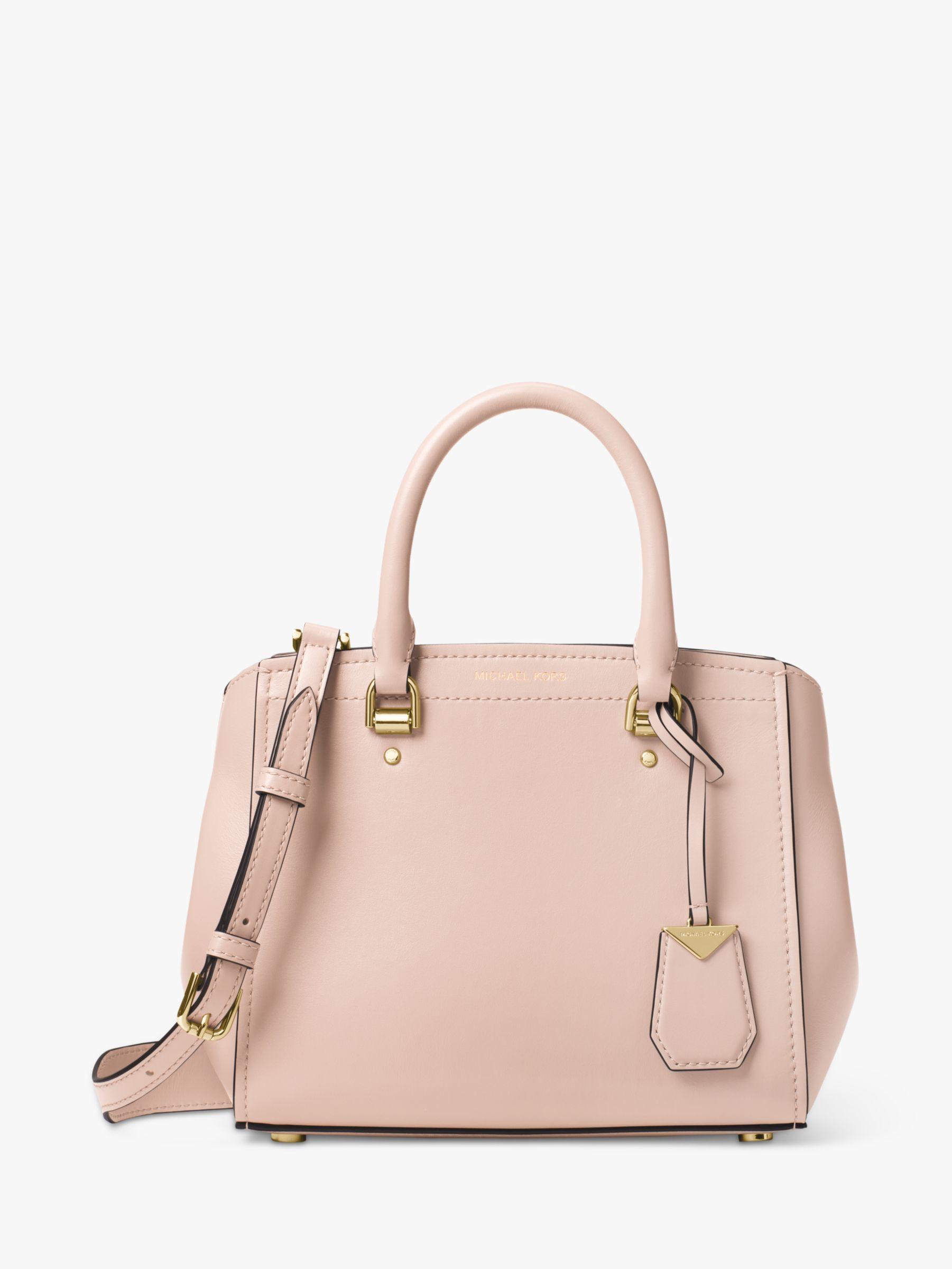 ab49e5372d3c Michael Kors - Pink Michael Benning Leather Medium Satchel Bag - Lyst. View  fullscreen