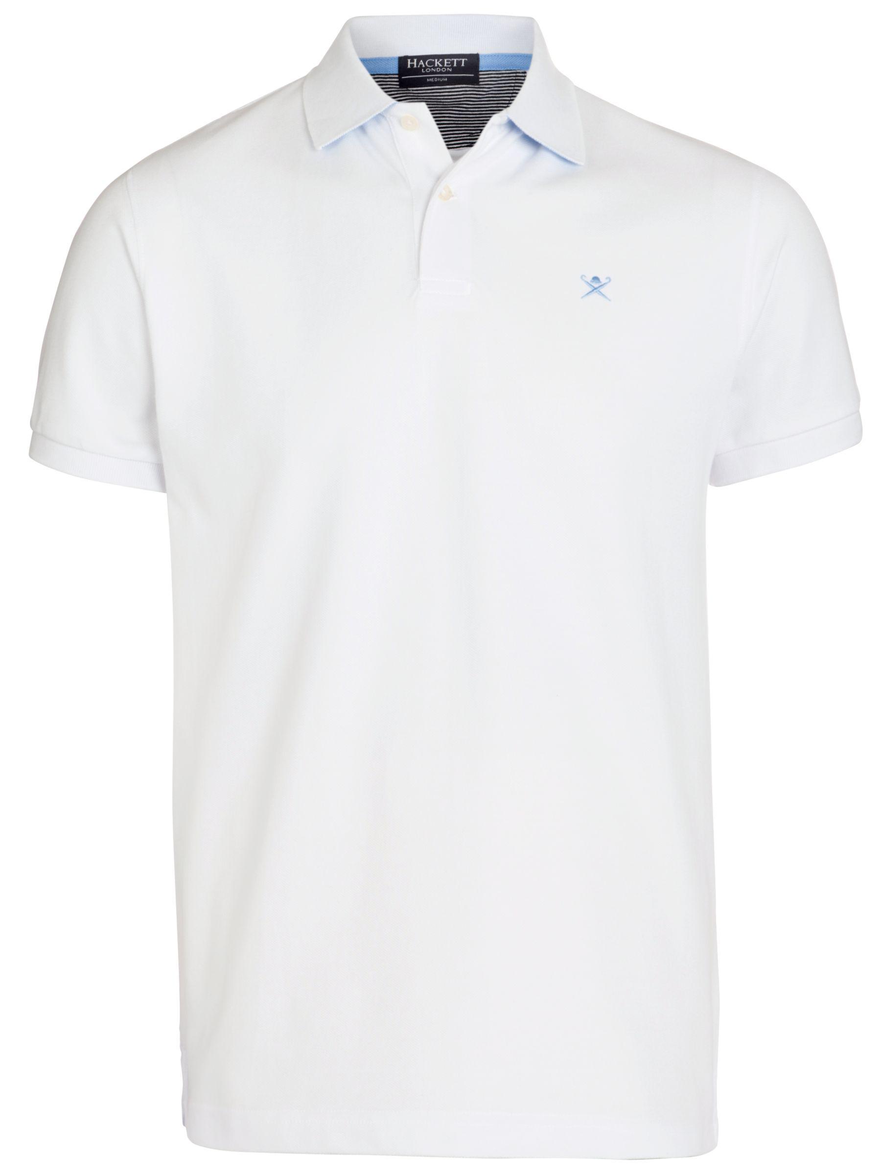 8fe5098977ce Hackett Short Sleeve Polo Shirt in White for Men - Lyst