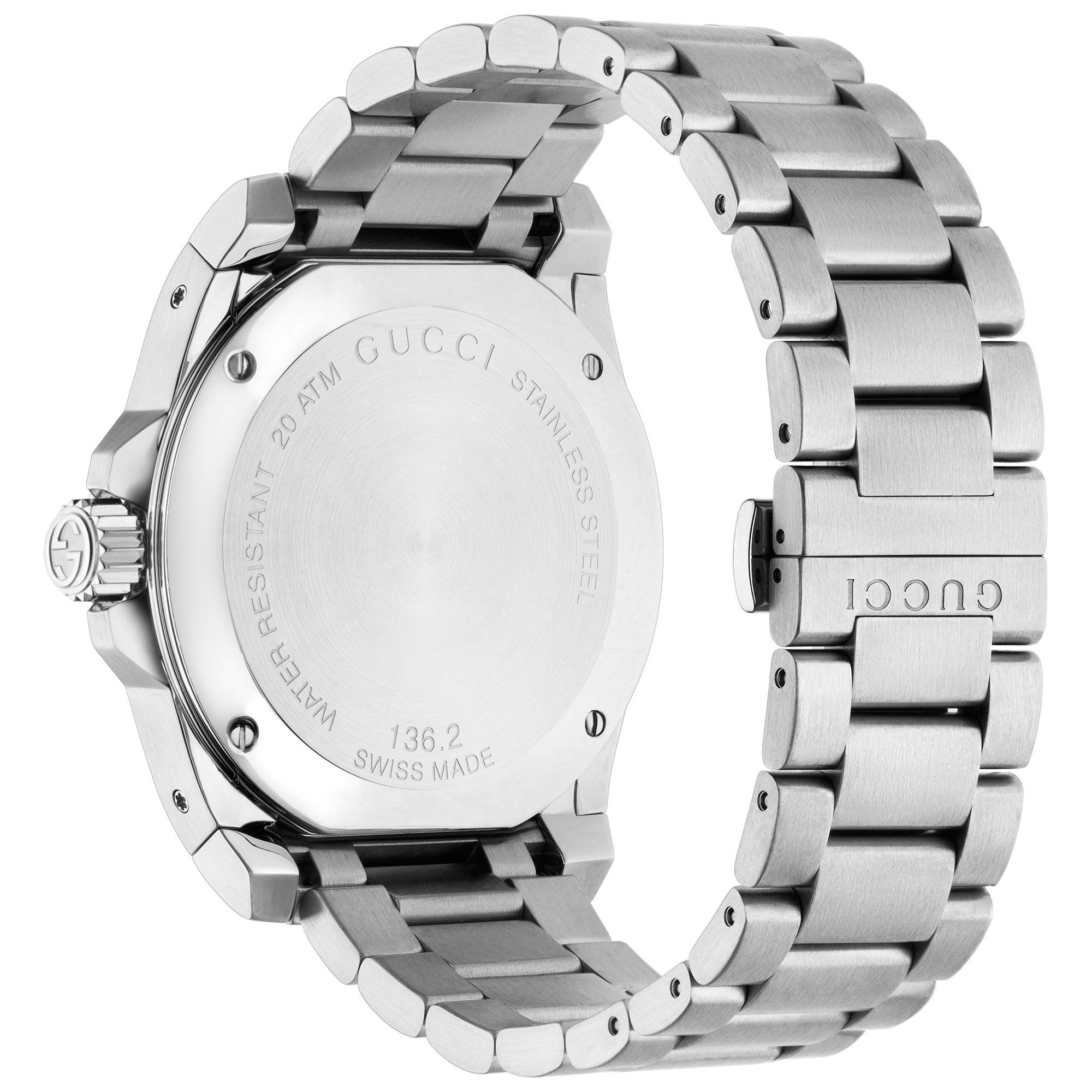 ab9b3dda224 Gucci - Gray Ya136208 Unisex Dive Stainless Steel Bracelet Strap Watch -  Lyst. View fullscreen