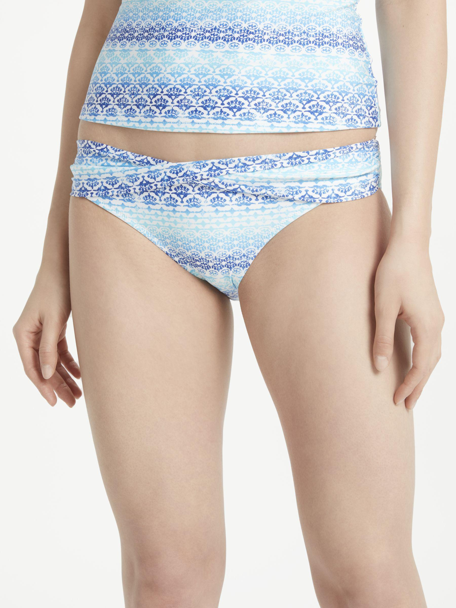 1ddcd3fd1b331 John Lewis Ombre Tile Print Twist Front Bikini Briefs in Blue - Lyst