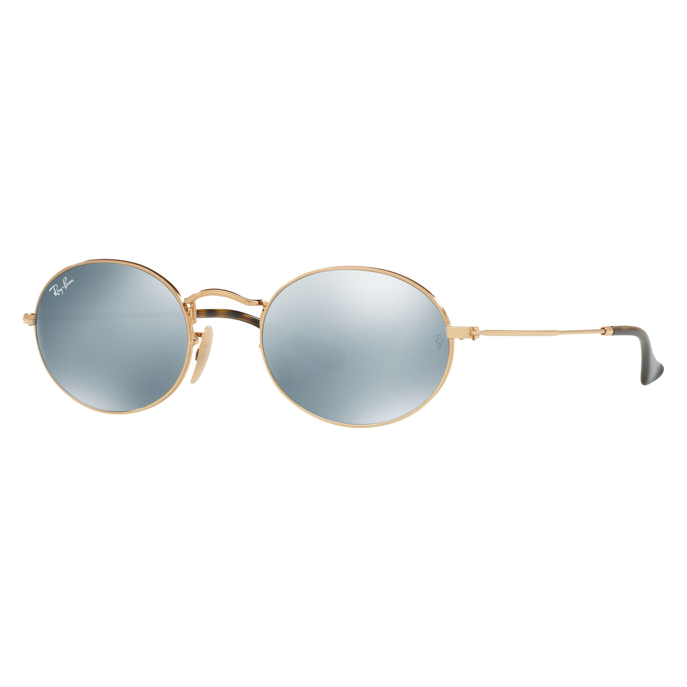 f943a66338 Ray-Ban Rb3547 Oval Flat Lens Sunglasses in White - Lyst