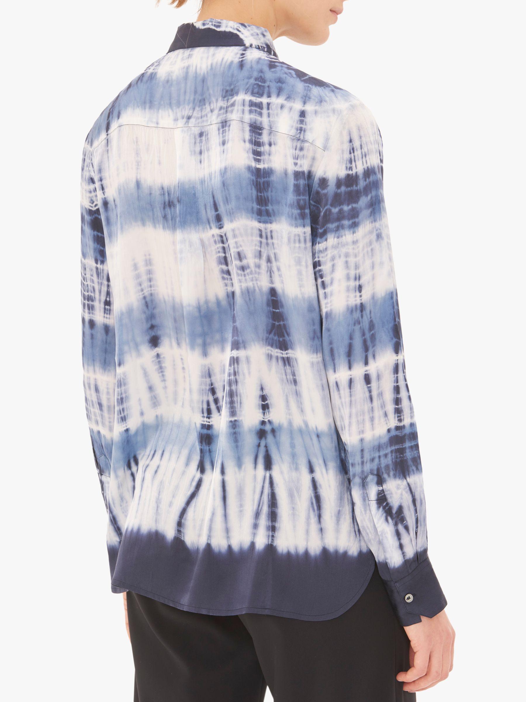 115d16b29a77 Gerard Darel - Blue Eden Abstract Print Silk Shirt - Lyst. View fullscreen