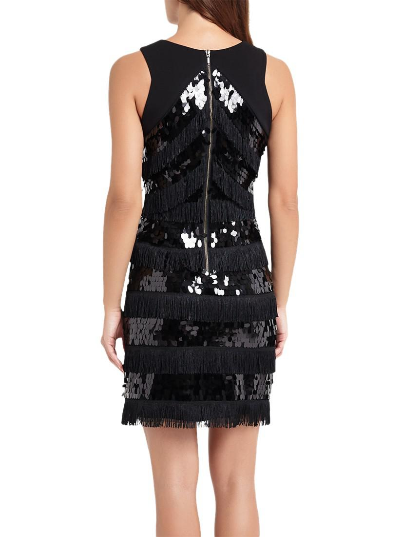 e8c282f8 Phase Eight Becca May Sequin Dress in Black - Lyst