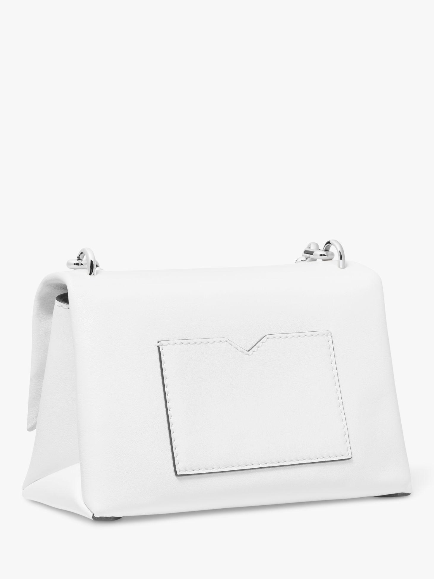 0748587fe5cc Michael Kors - White Michael Cece Small Chain Cross Body Bag - Lyst. View  fullscreen