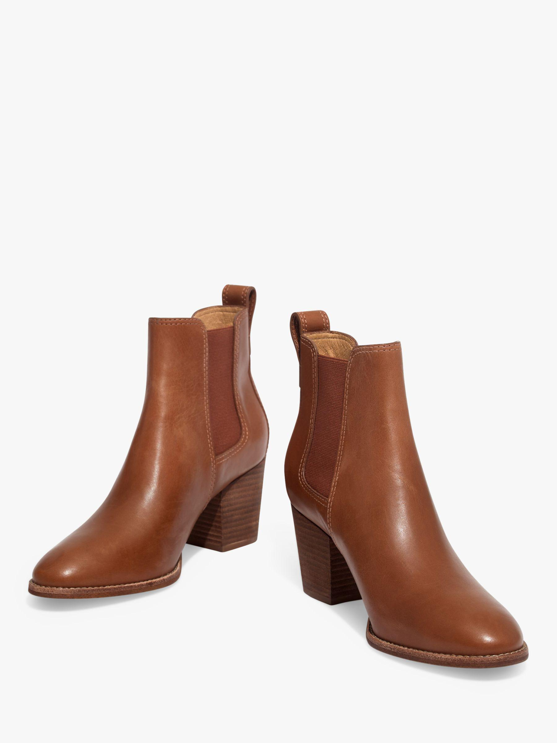 92d4e1d5a Madewell Regan Leather Chelsea Ankle Boots in Brown - Lyst