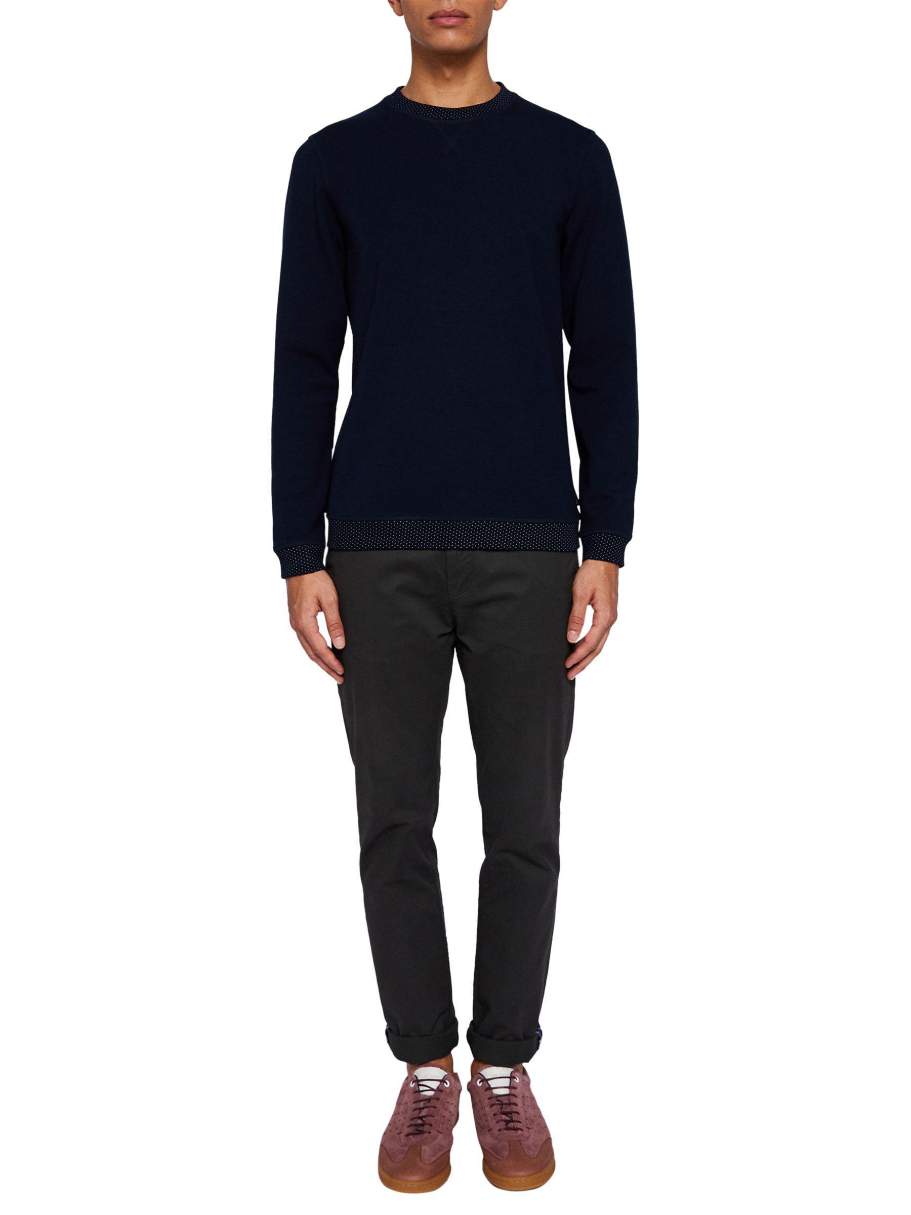 bdedeb818 Ted Baker Wolfie Classic Sweatshirt in Blue for Men - Lyst
