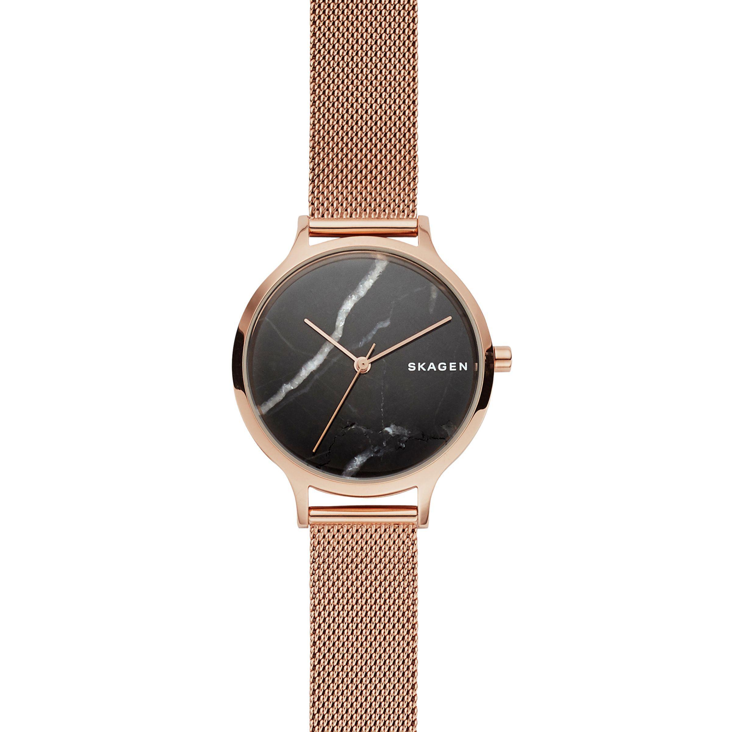 d511810b8 Skagen Skw2721 Women's Anita Mesh Bracelet Strap Watch in Black - Lyst