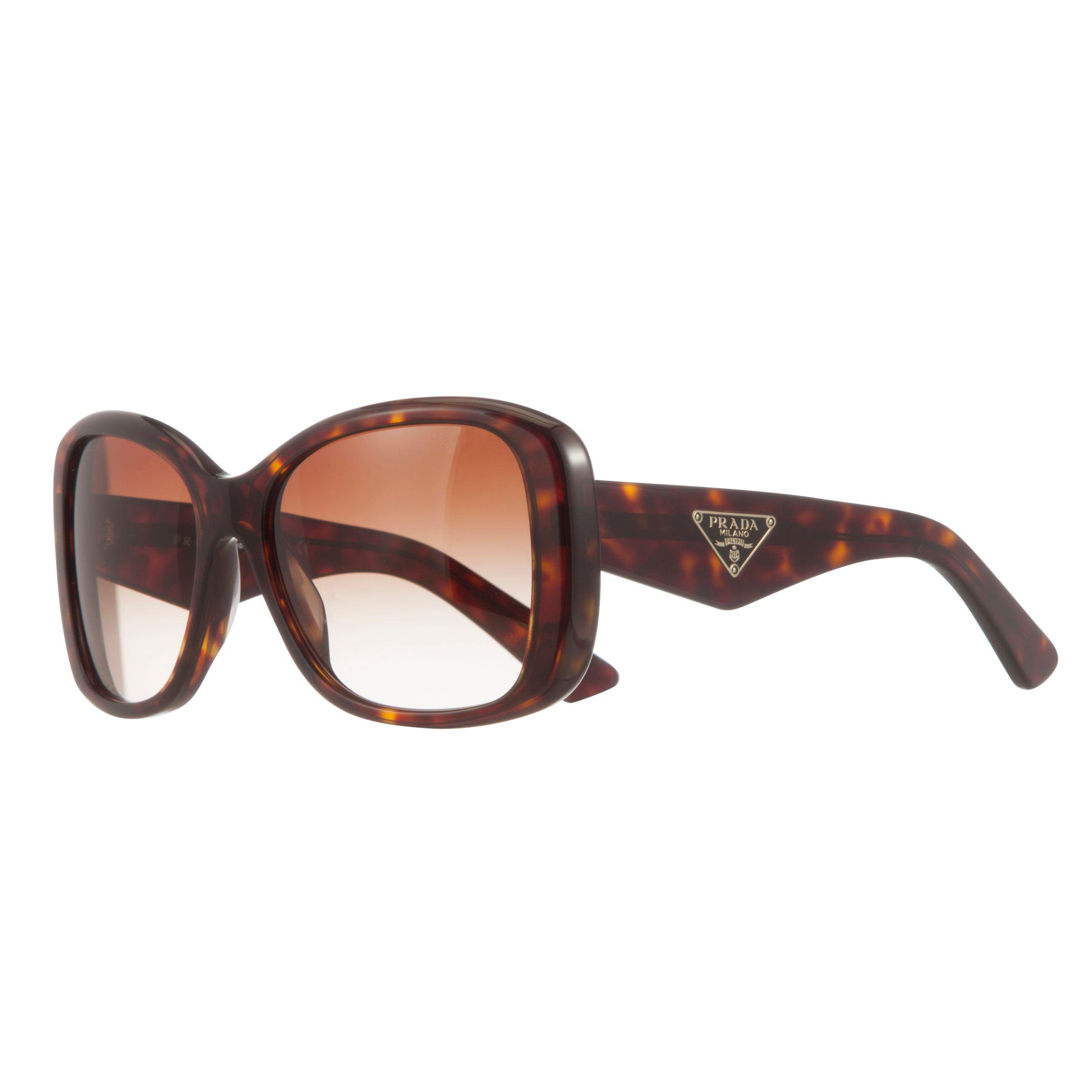 ff664aaf0d Prada Pr32ps Square Framed Polarised Sunglasses in Brown - Lyst