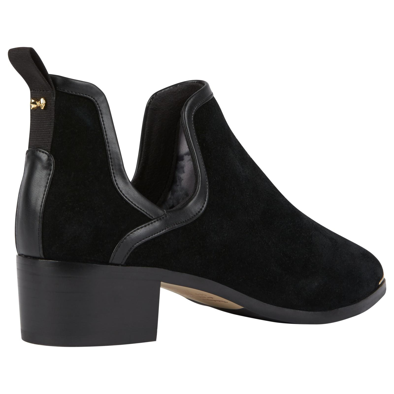 41e59c8047bc Ted Baker Twillo Cut Out Ankle Boots in Black - Lyst