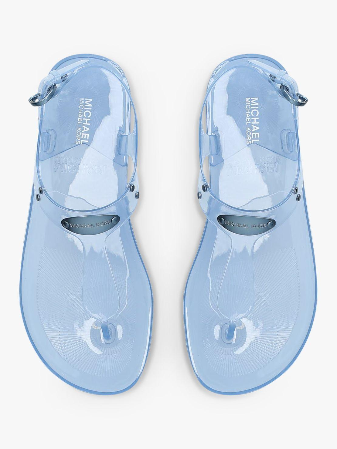 22653b9fe711 Michael Kors - Blue Michael Jelly Plate Sandals - Lyst. View fullscreen