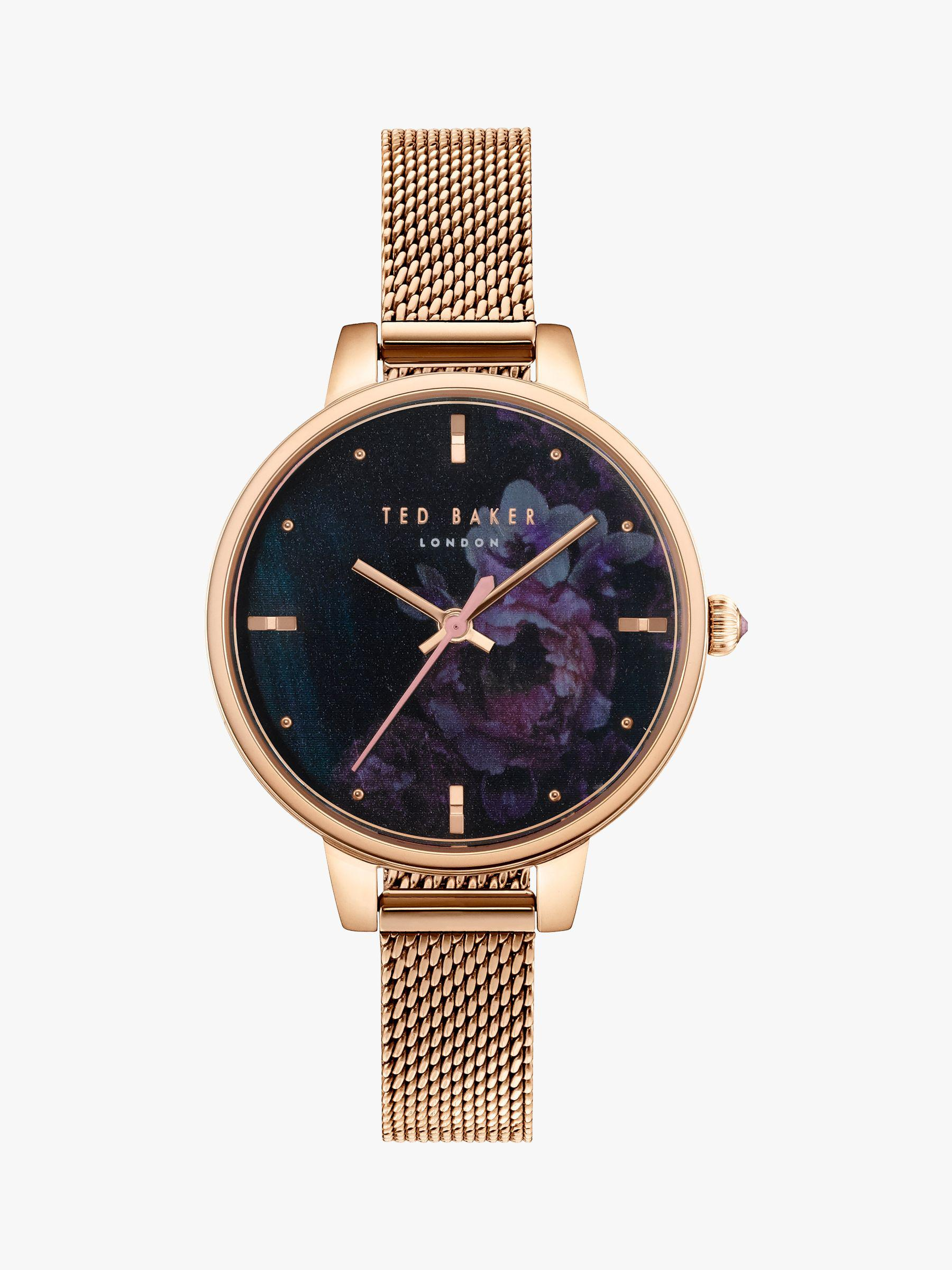 d6819ddc2 Ted Baker Women's Kate Mesh Bracelet Strap Watch in Metallic - Lyst