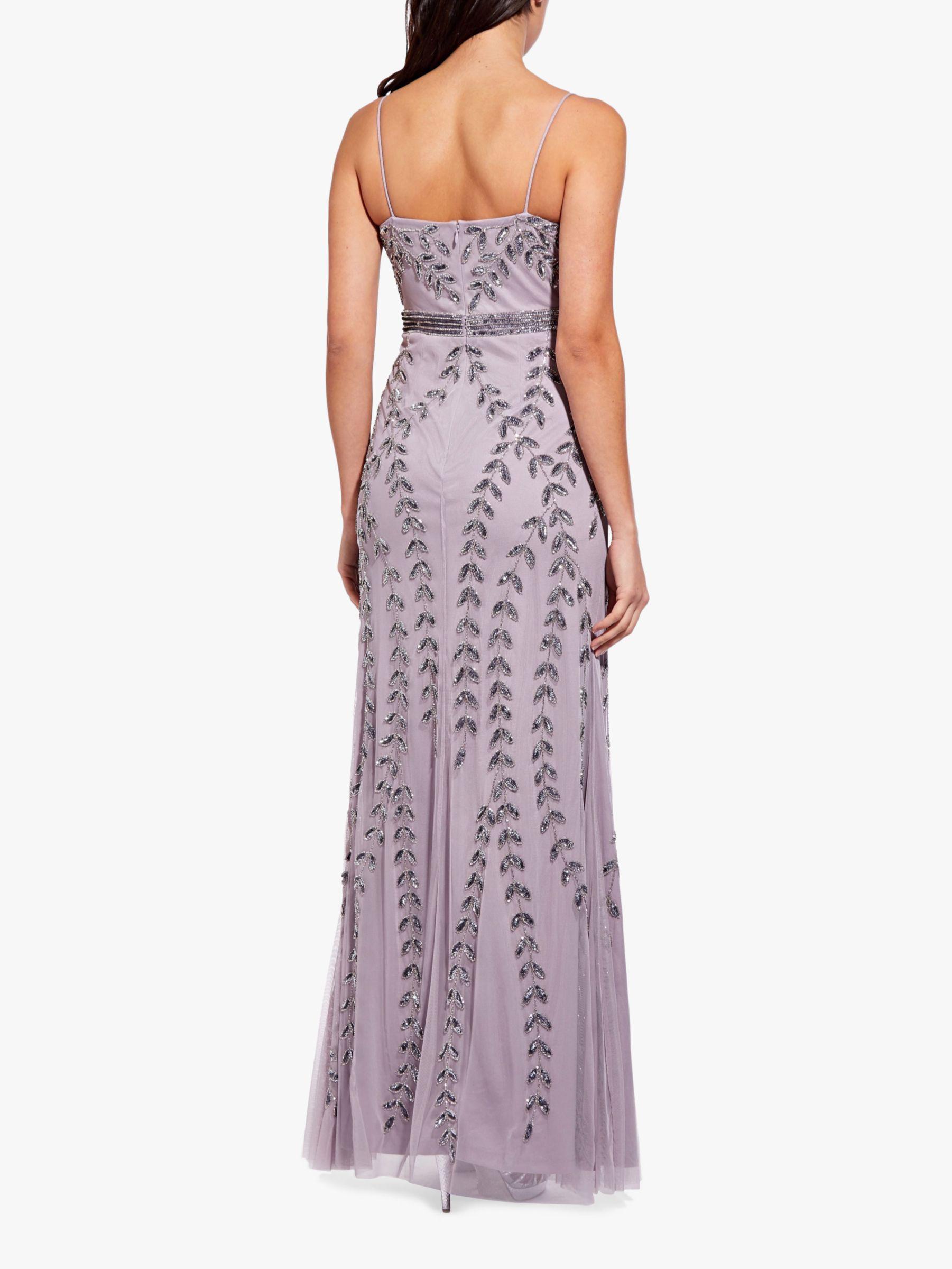 de27694238a18 Adrianna Papell Long Beaded Maxi Dress in Purple - Lyst