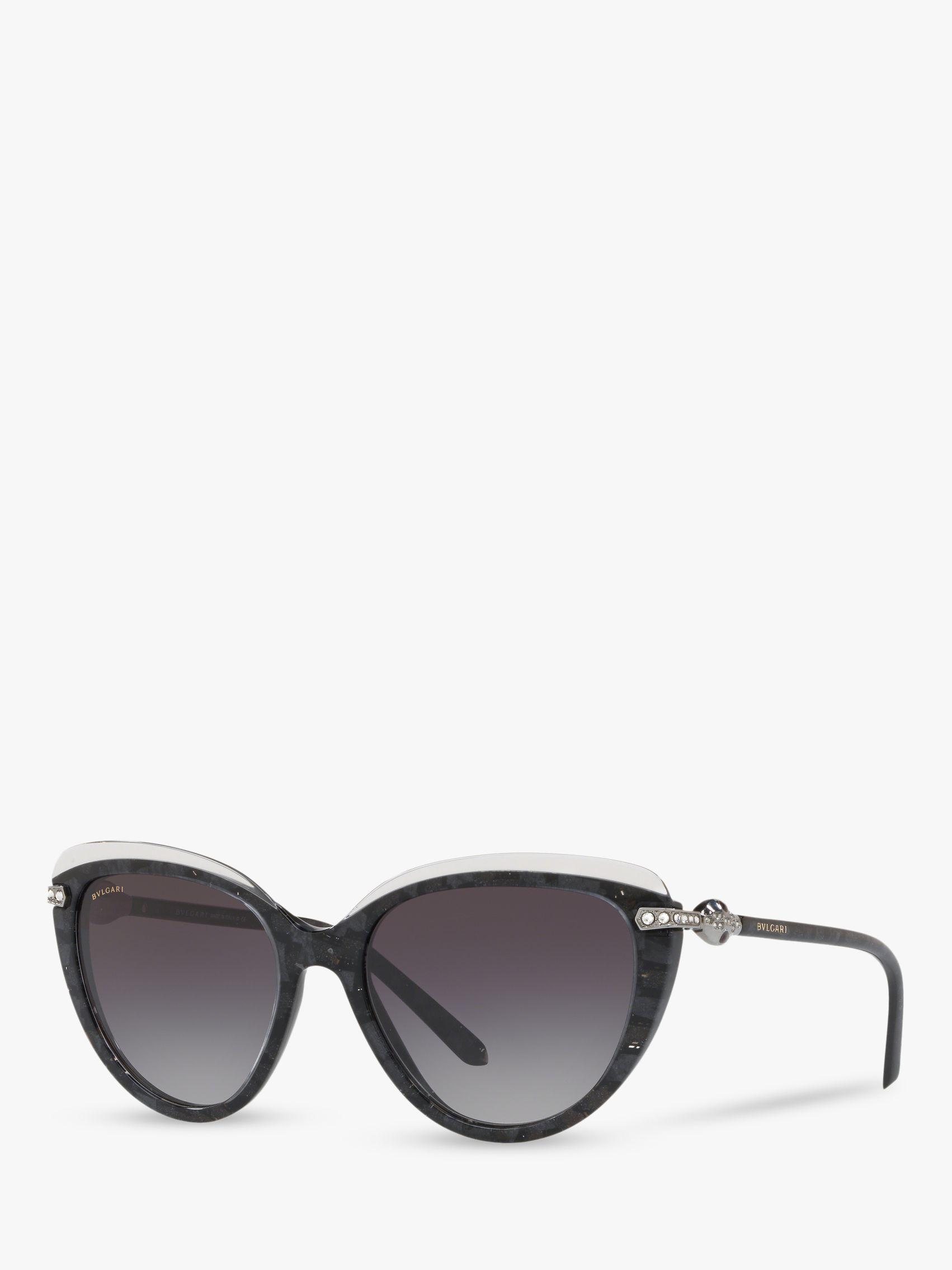 3dd0265c5d BVLGARI Bv8211b55 Women s Cat s Eye Sunglasses in Black - Lyst