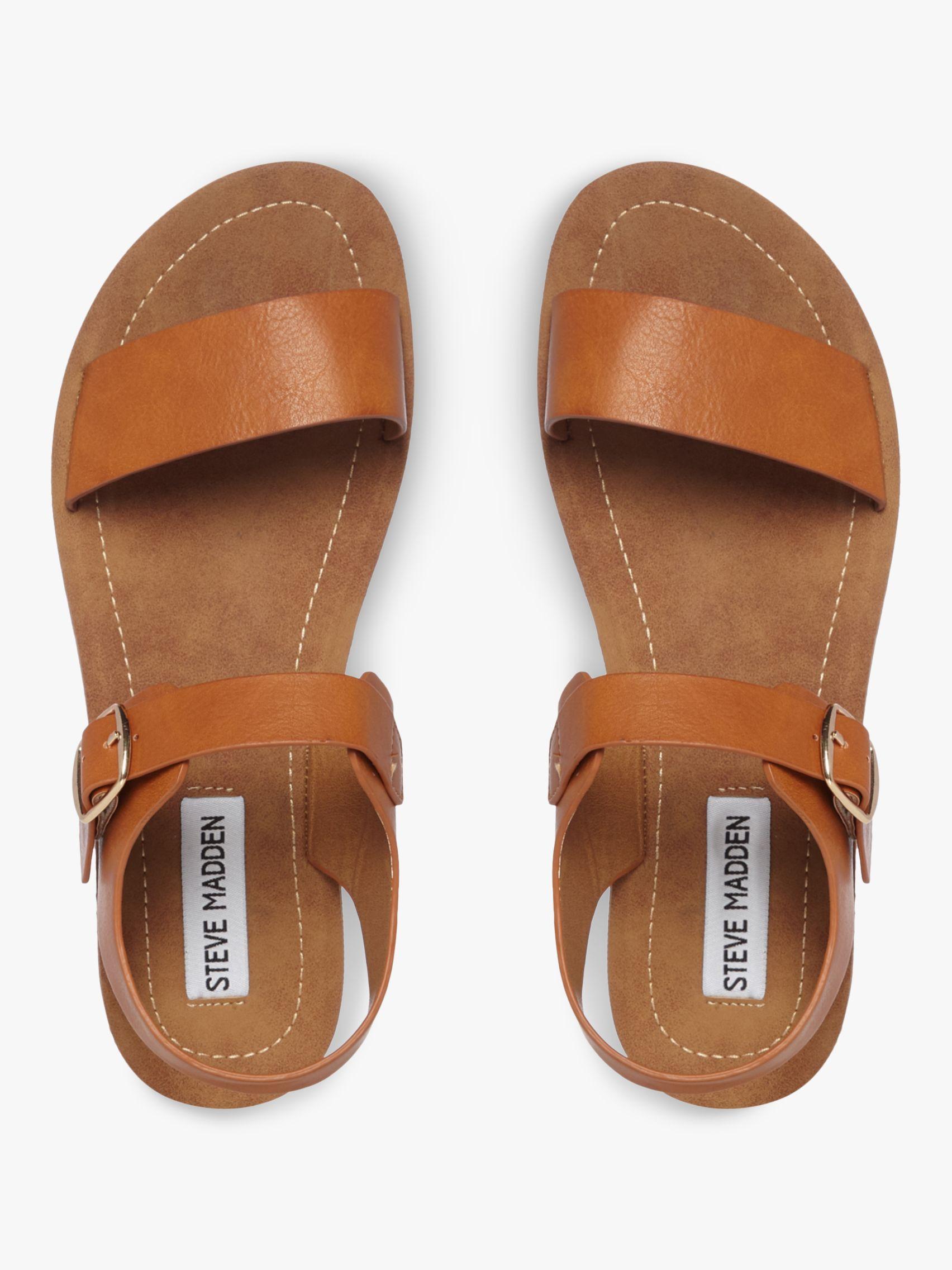 3d188fae8e8 Steve Madden - Brown Probable Two Part Flat Sandals - Lyst. View fullscreen