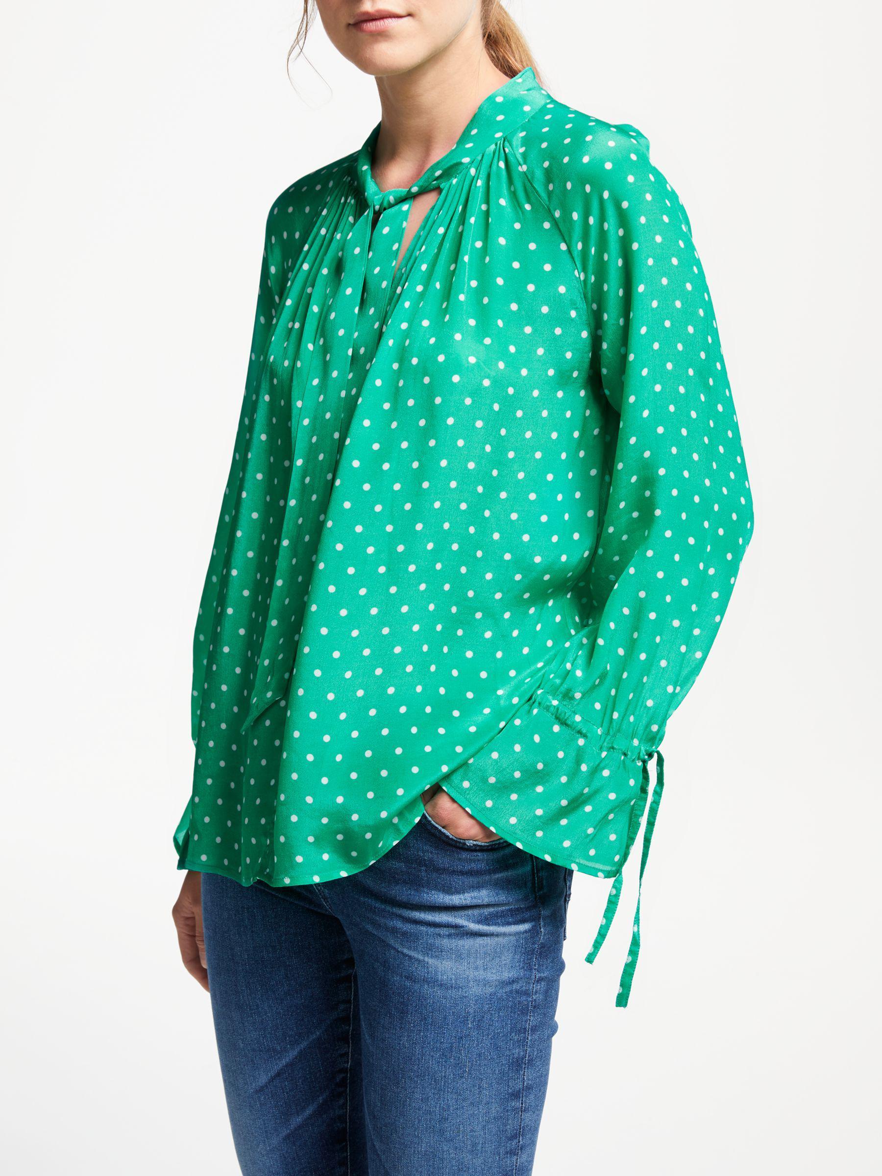 15e8e2c9802a17 Pyrus Anais Spot Print Blouse in Green - Lyst