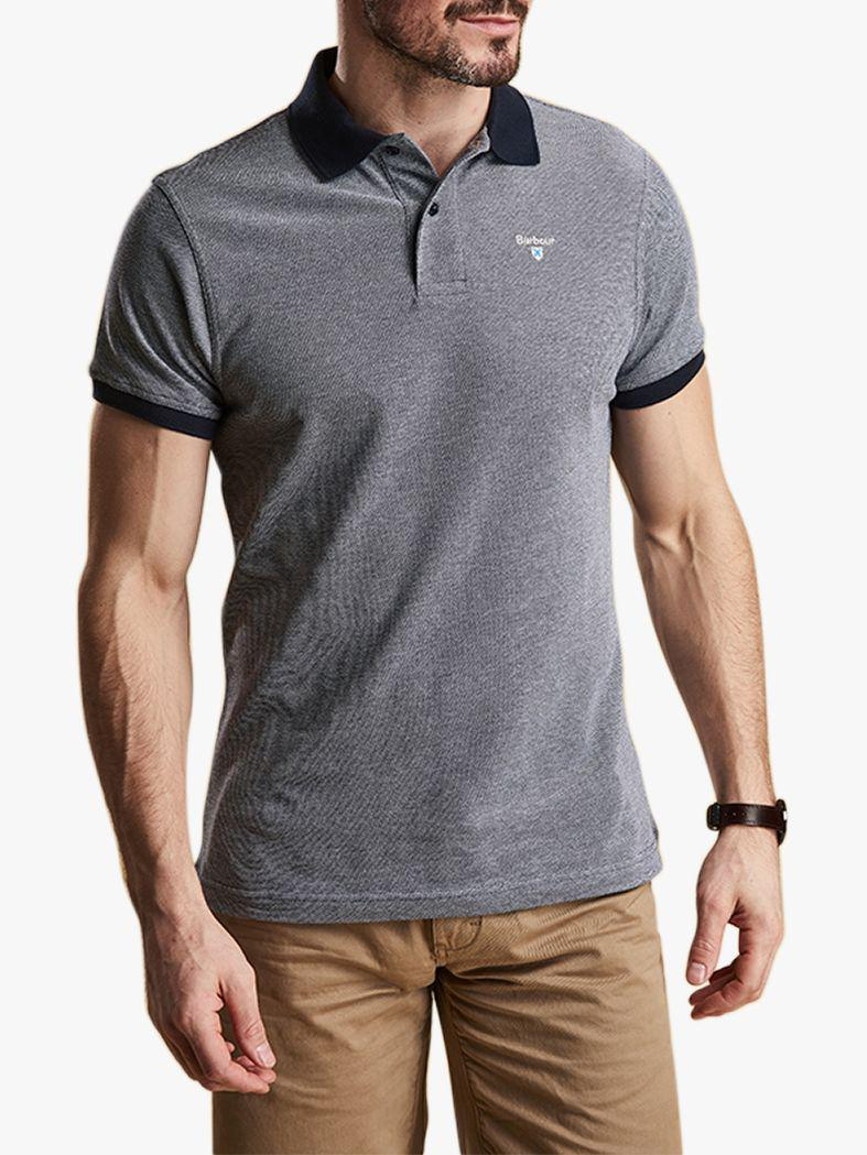 3c7d8d6c Barbour. Men's Blue Sports Short Sleeve Polo Shirt. £45 From John Lewis and  Partners