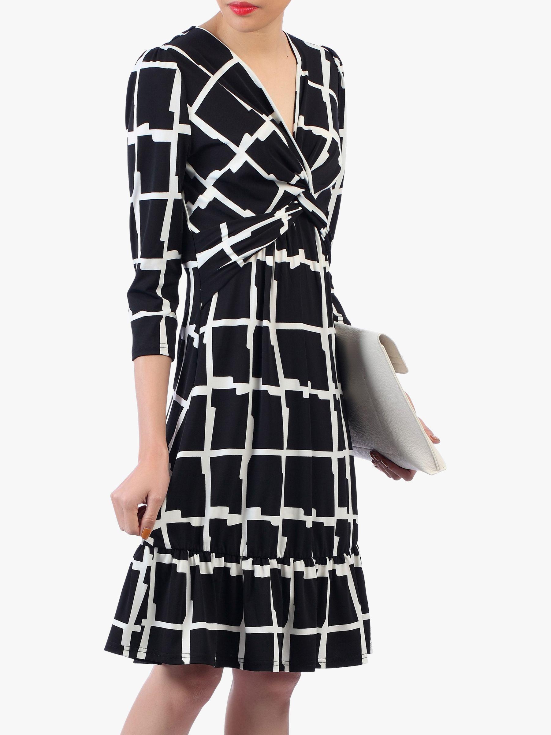0d0202587ed2d Jolie Moi Twist Front Flare Dress in Black - Lyst