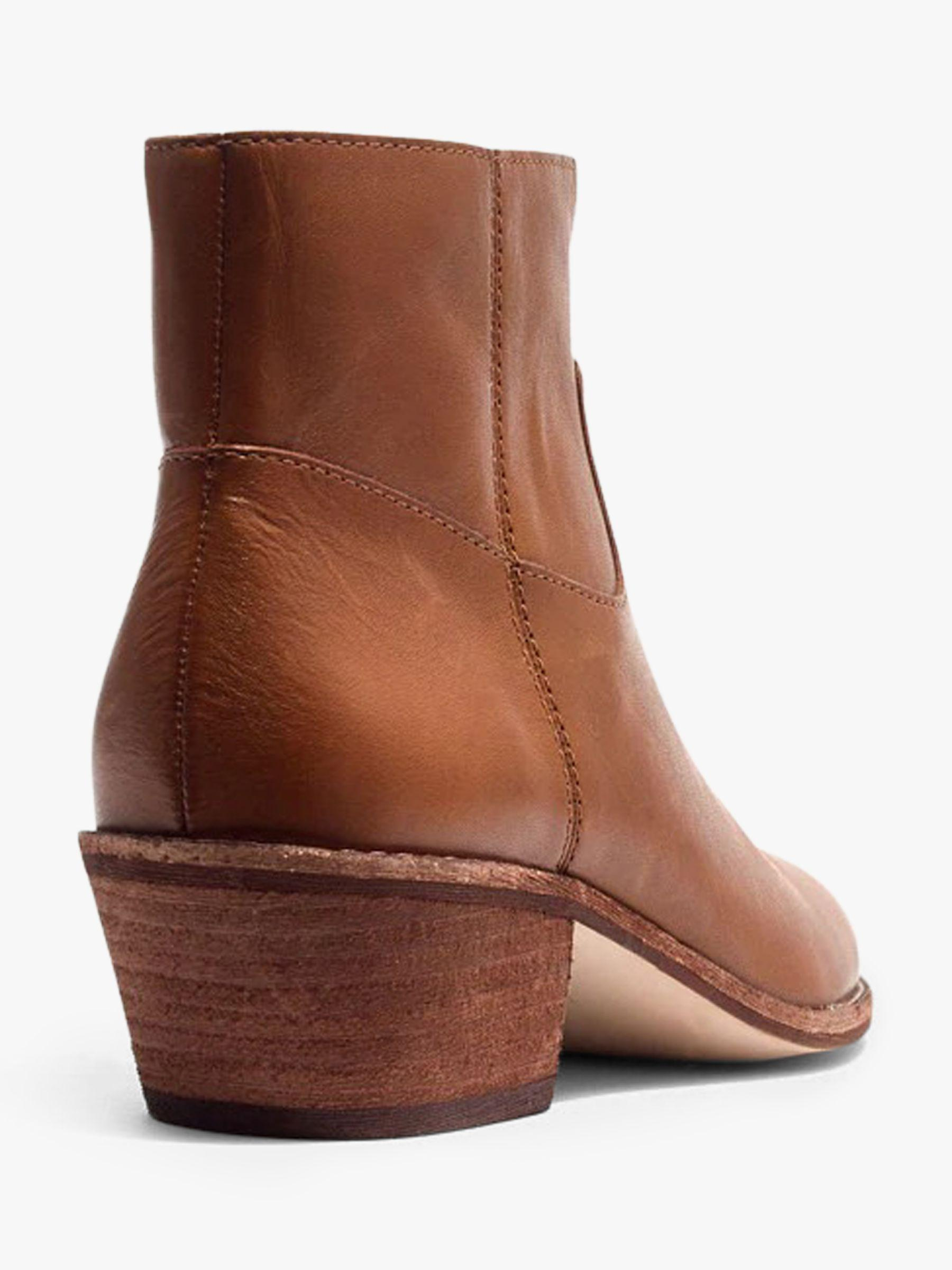 dbb0e82c130e ... Madewell - Brown Charley Leather Pointed Ankle Boots - Lyst · Visit John  Lewis and Partners. Tap to visit site