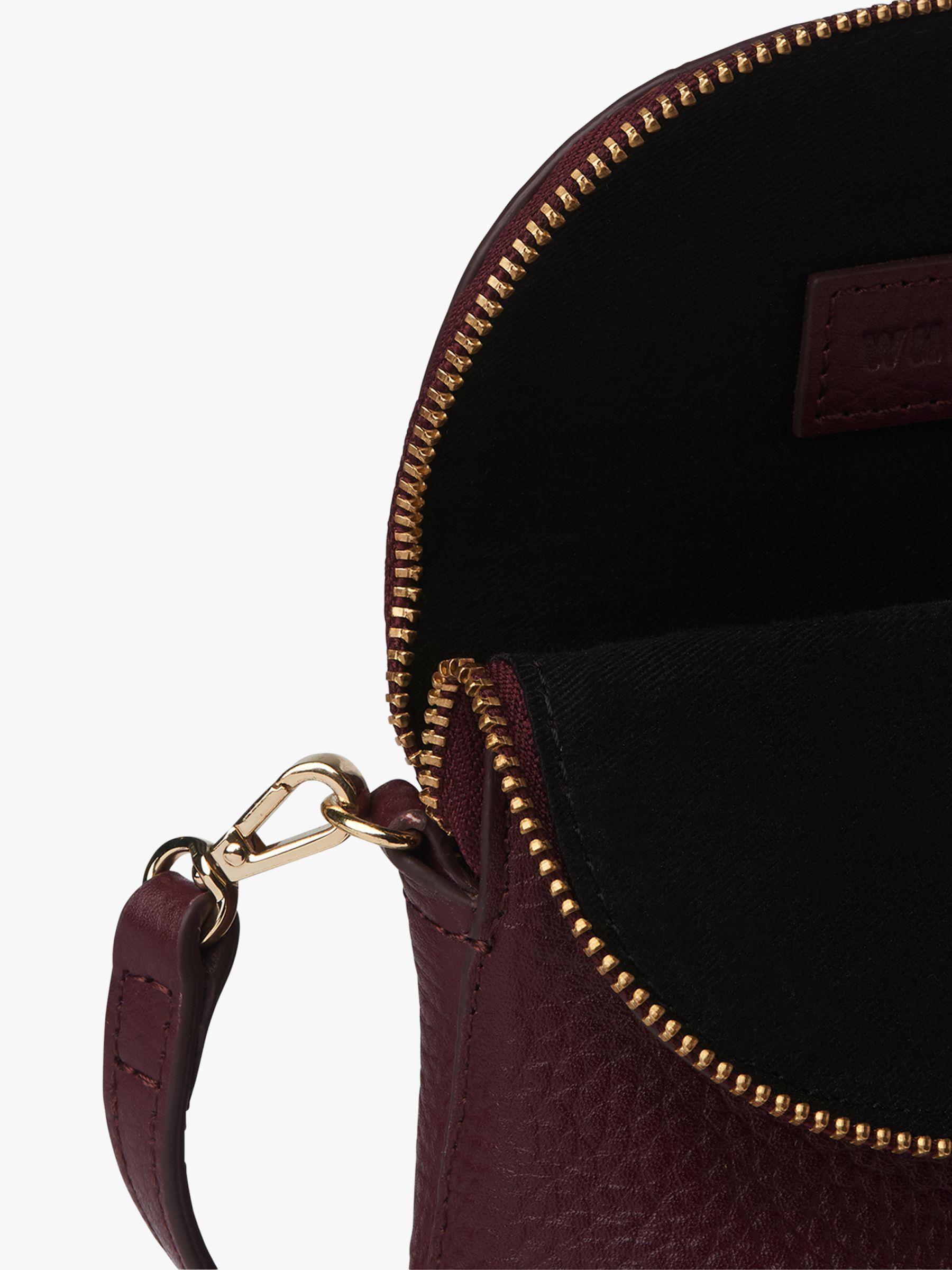 8225ccaf4864 Whistles Victoria Mini Leather Crossbody in Purple - Lyst