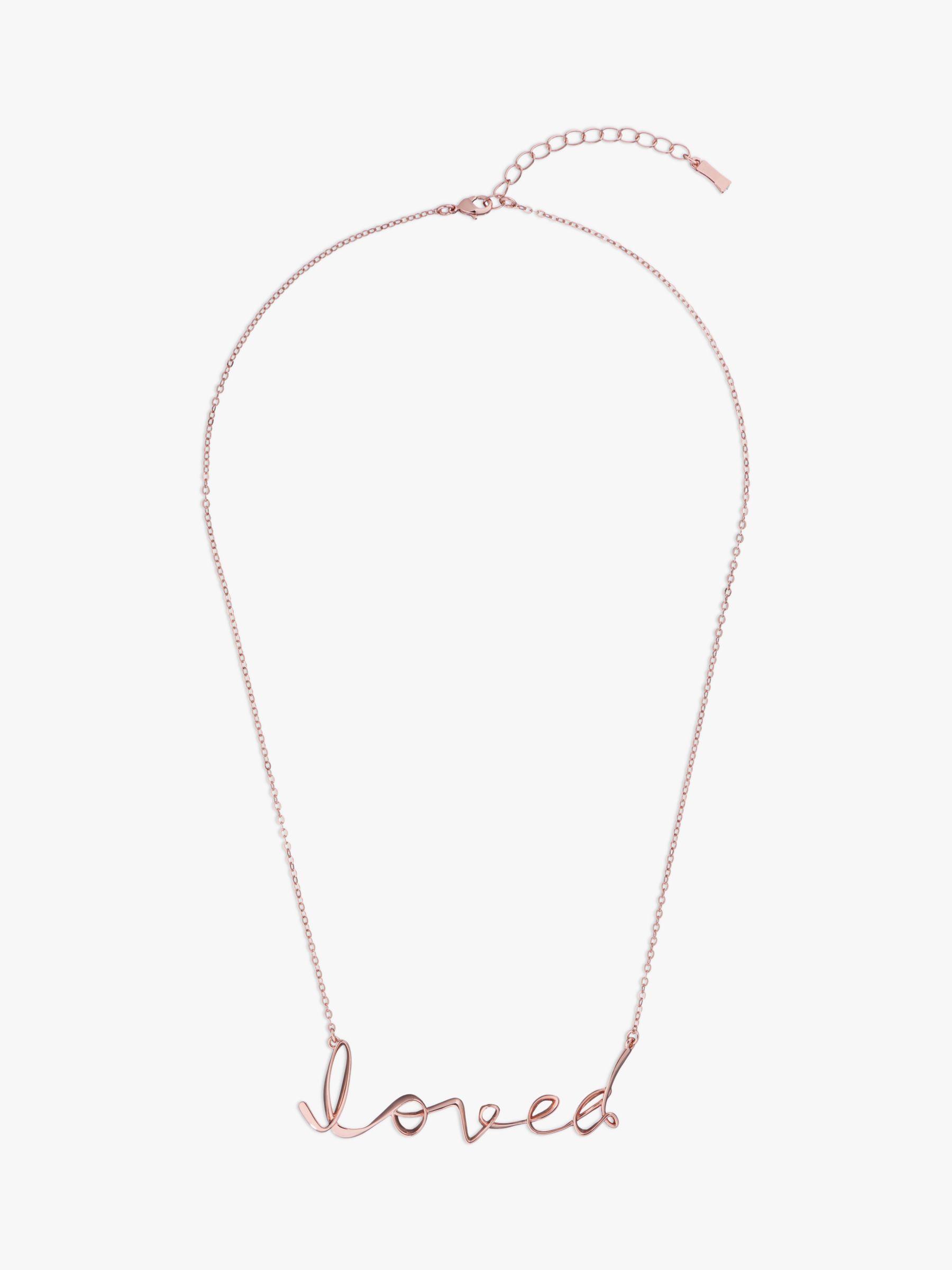301dd85a96ce Ted Baker Lakia Swarovski Crystal Loved Script Bracelet in Pink - Lyst