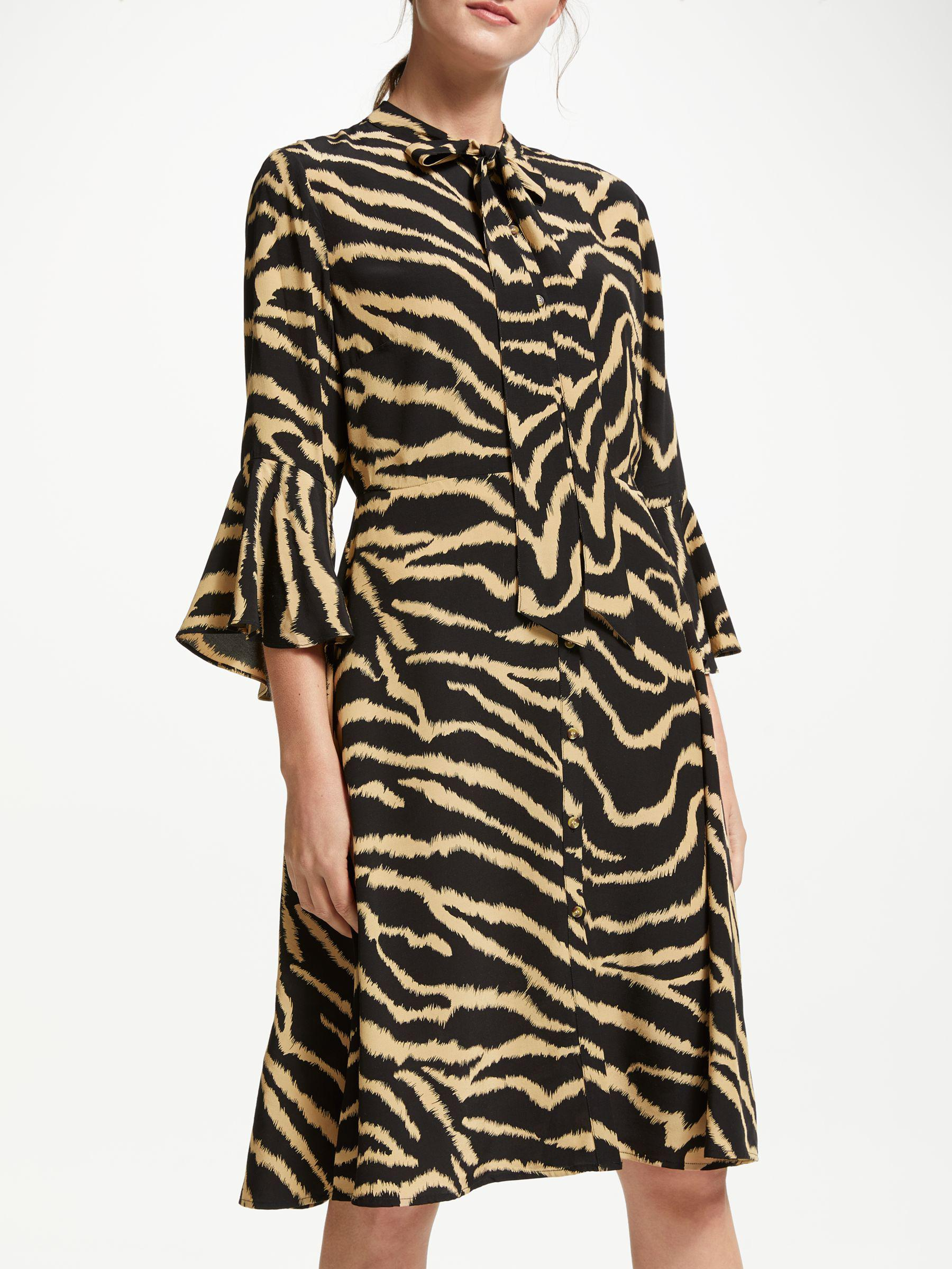 ddb9d99cd9f1b Somerset by Alice Temperley Zebra Long Sleeve Dress in Black - Lyst