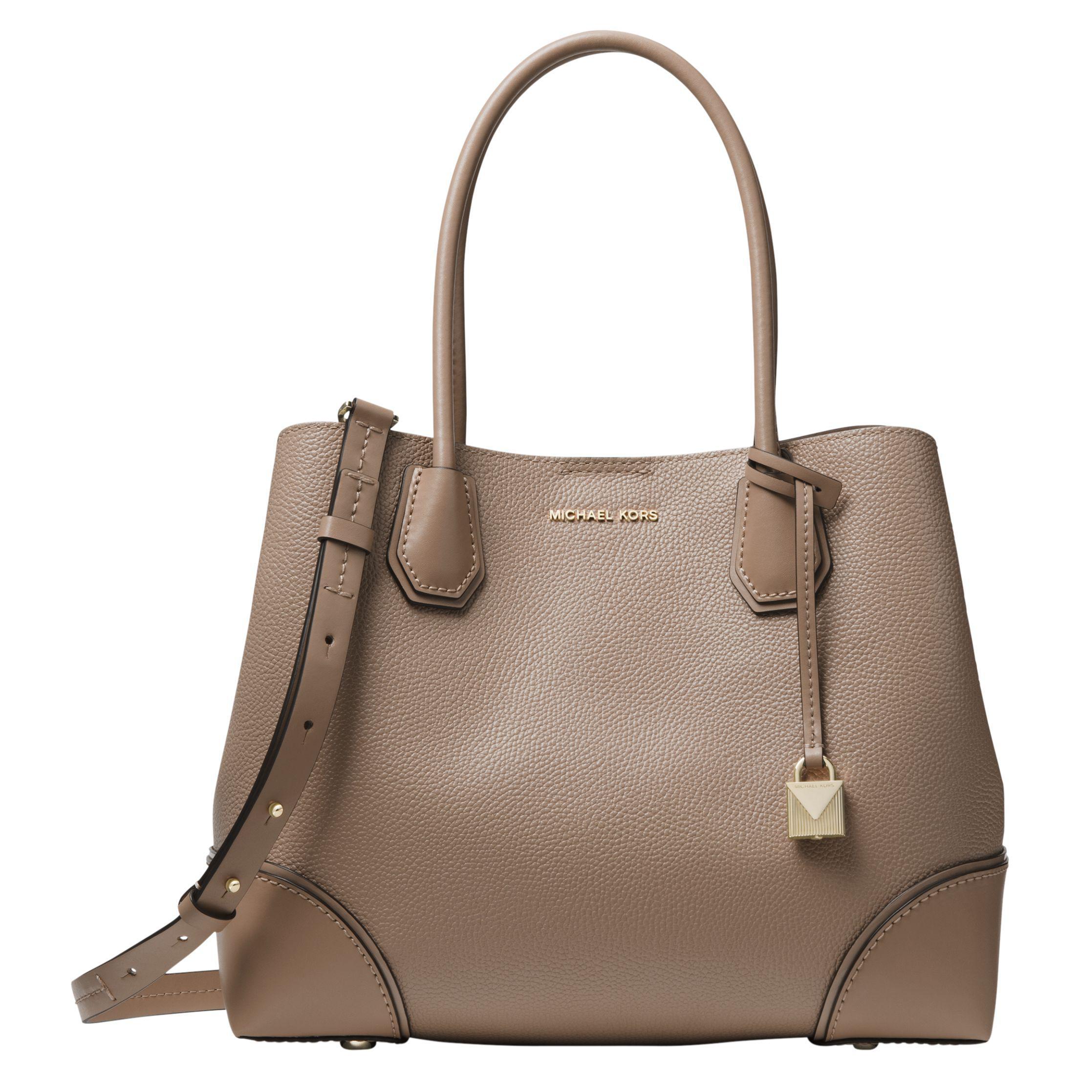 72a73409de62 Michael Kors Michael Mercer Gallery Medium Leather Tote Bag in Brown ...