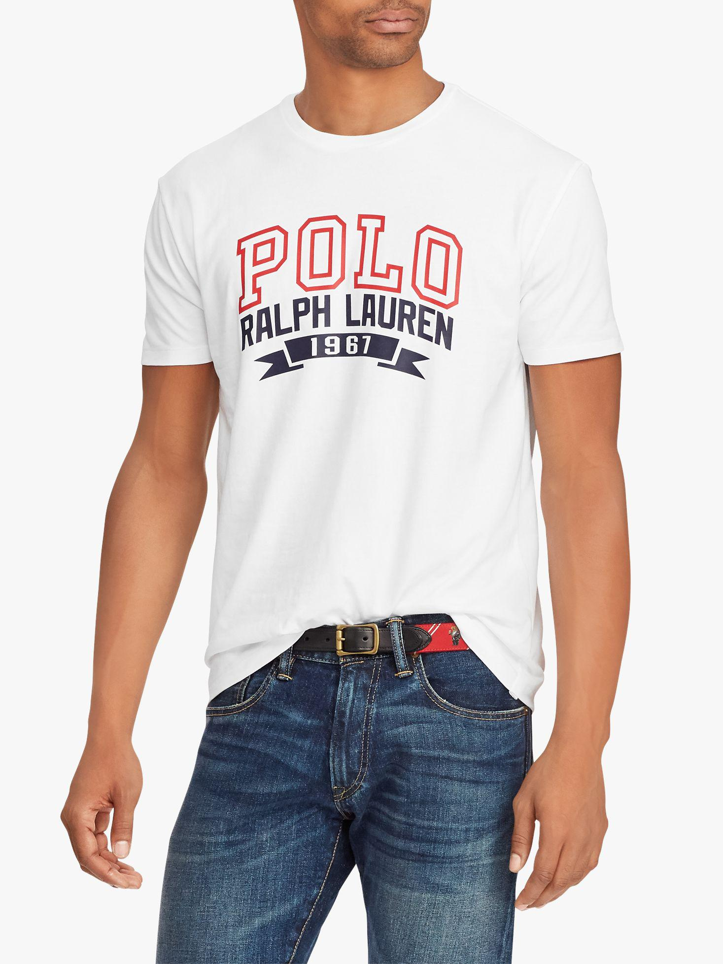 a798956a Ralph Lauren Polo Short Sleeve Graphic T-shirt in White for Men - Lyst