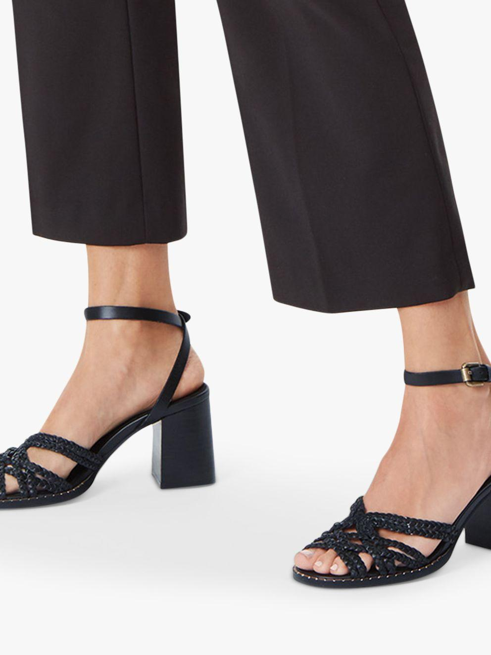 51ea2bda2fe See By Chloé Gladiator Braid Block Heel Sandals in Black - Lyst