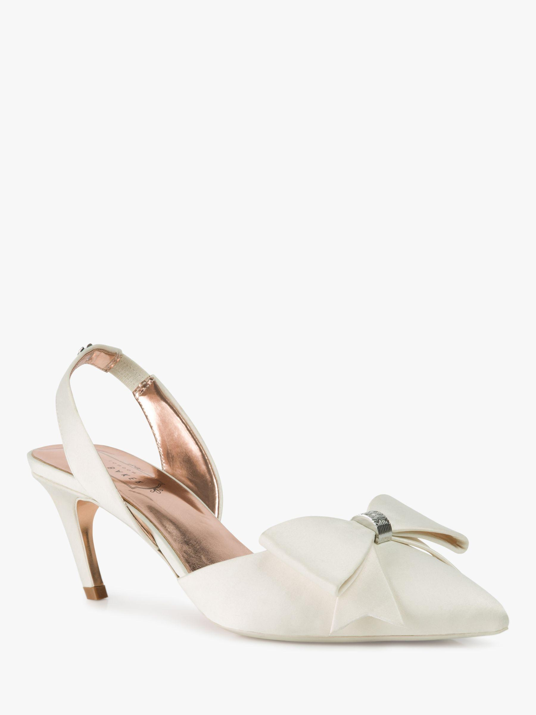 f50b88487c5 Ted Baker Aidelas Bow Sling Back Court Shoes in White - Save 20% - Lyst