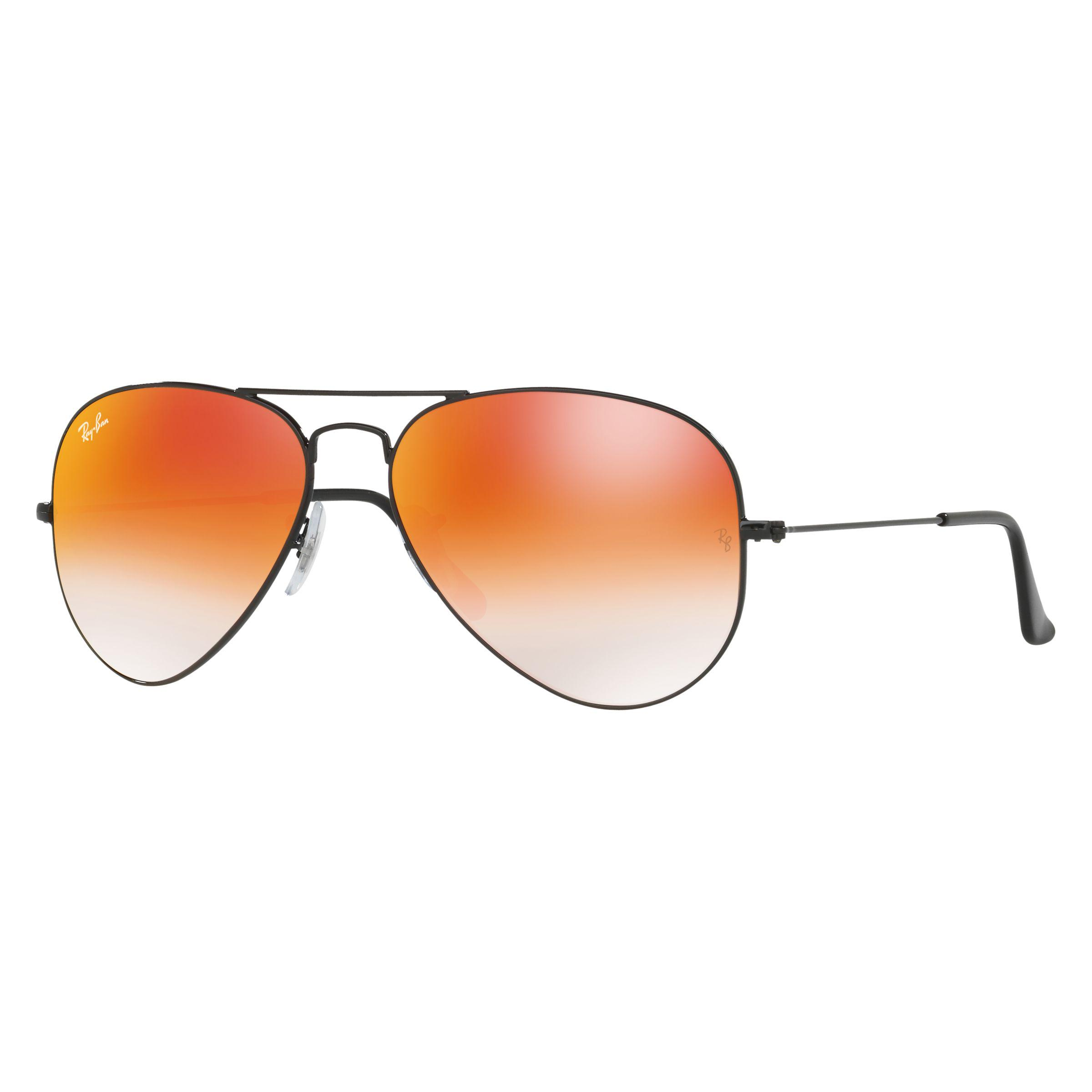 2f202f120a Ray-Ban Rb3025 Aviator Sunglasses in Black - Lyst