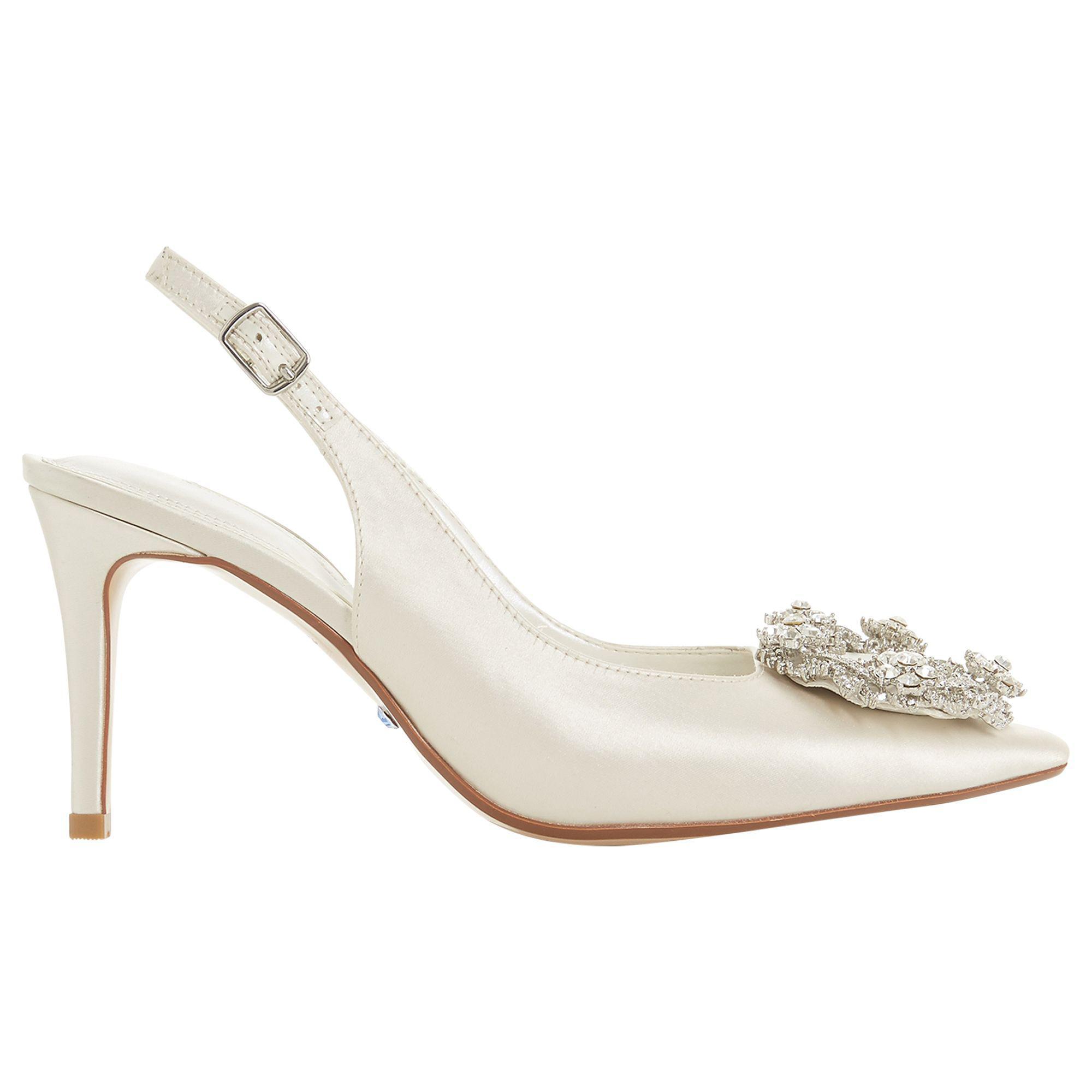 5787c15baf80 Dune Bridal Collection Ceremony Wreath Brooch Slingback Court Shoes ...