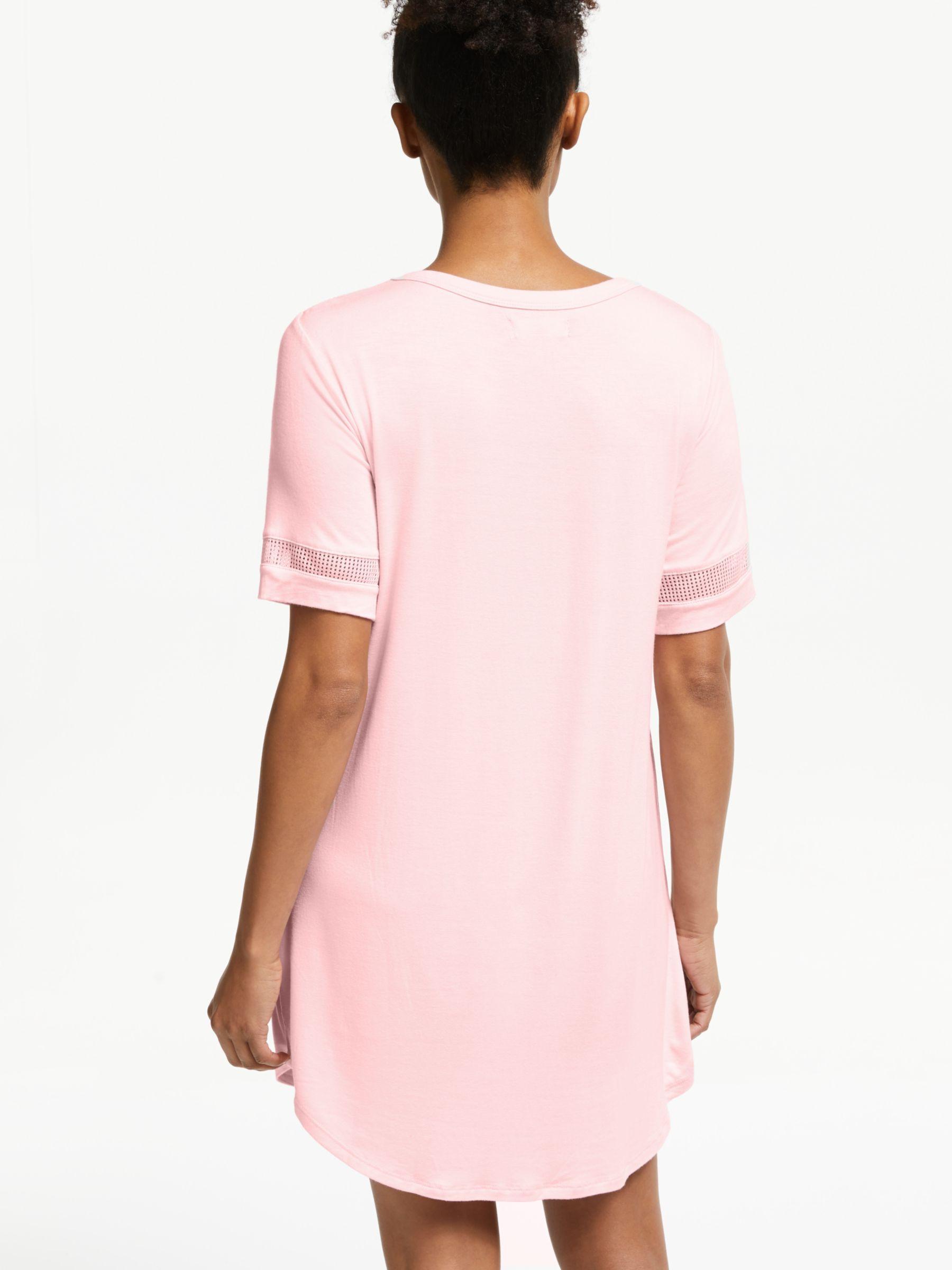 DKNY Logo Mesh Nightdress in Pink - Lyst a7da833ae