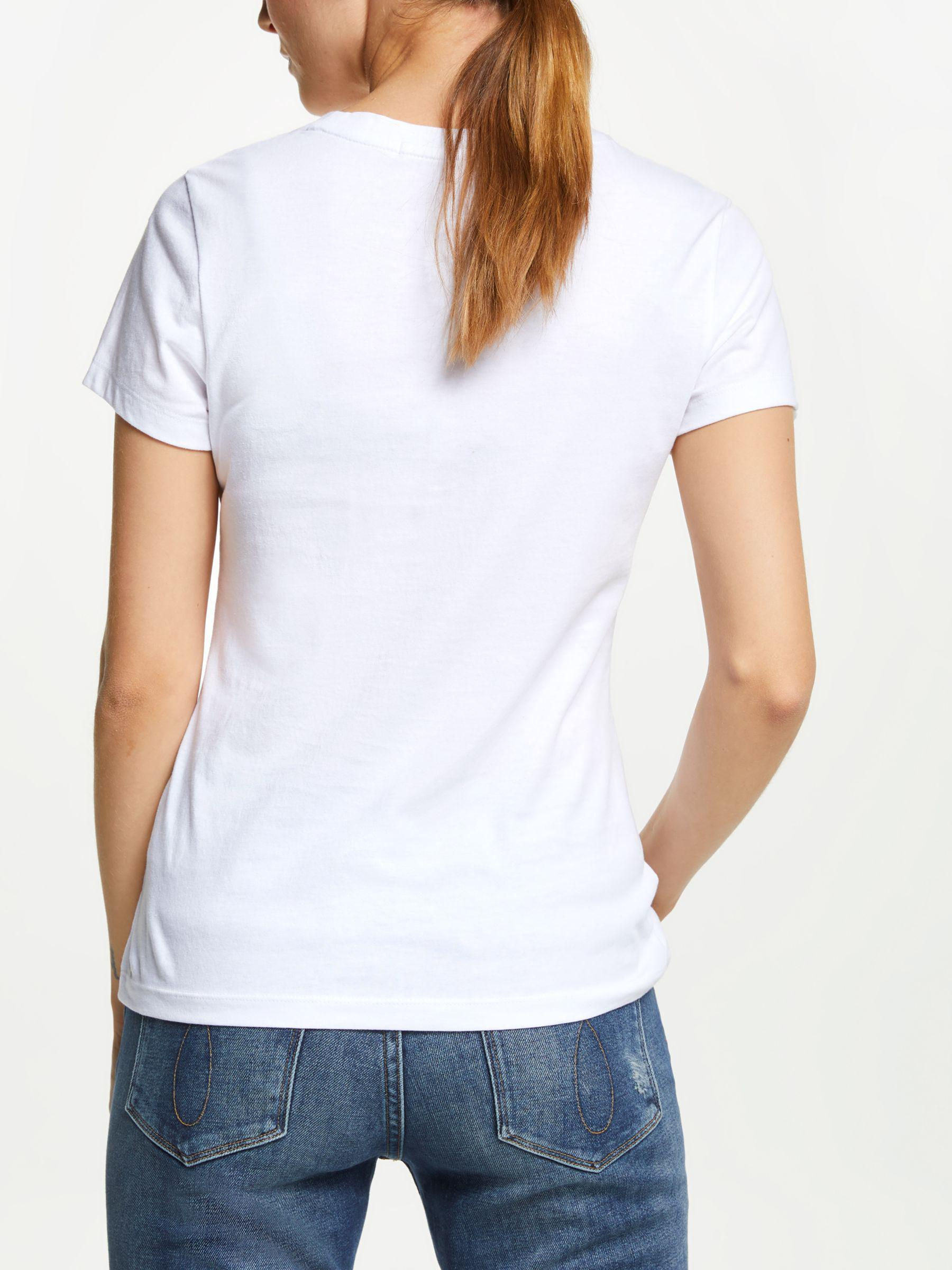 7af95a76 Calvin Klein Jeans Institutional Logo T-shirt in White - Lyst
