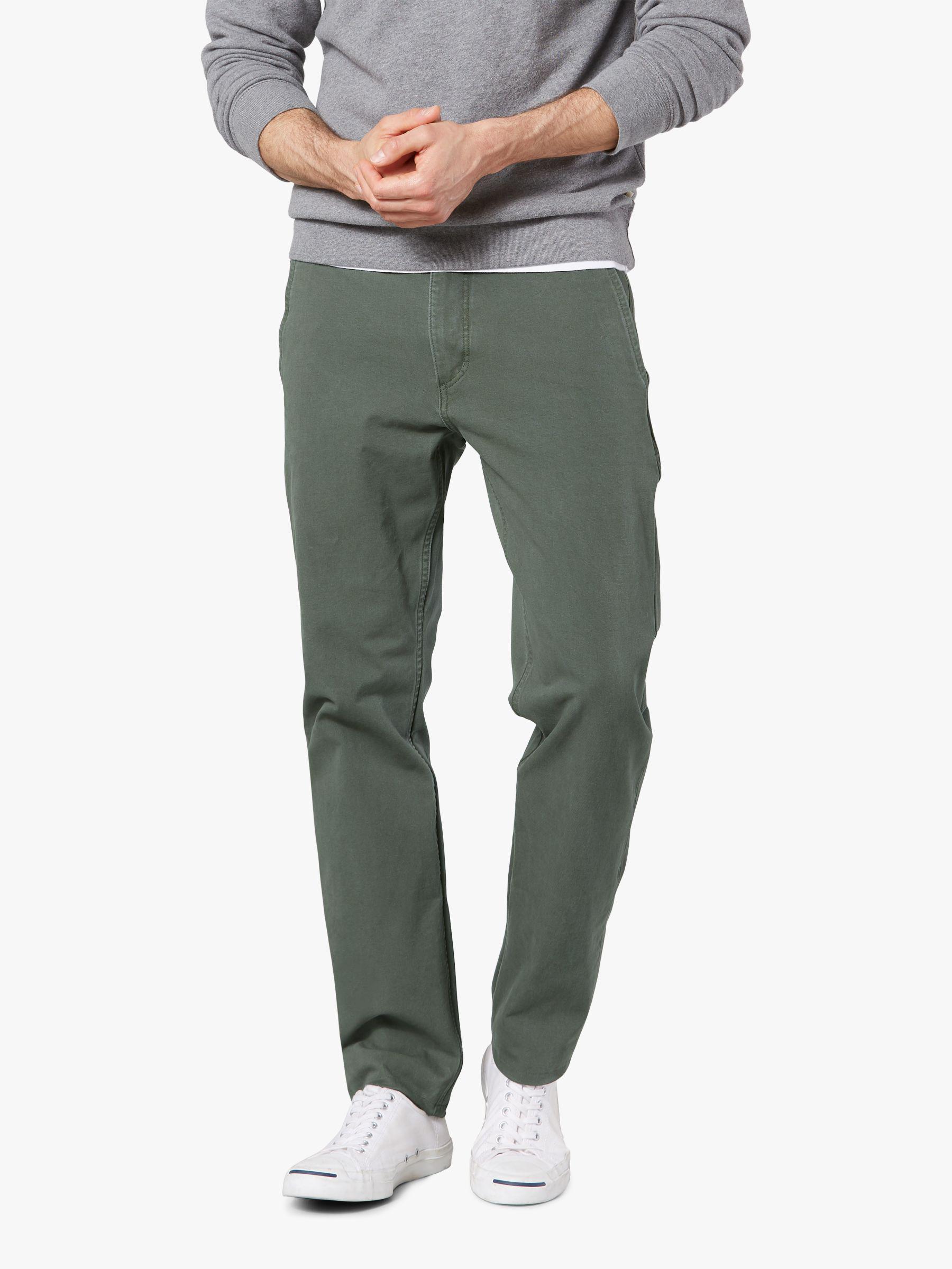 45fb46653bad43 Dockers Alpha Khaki Smart 360 Flex Slim Tapered Trousers in Green ...