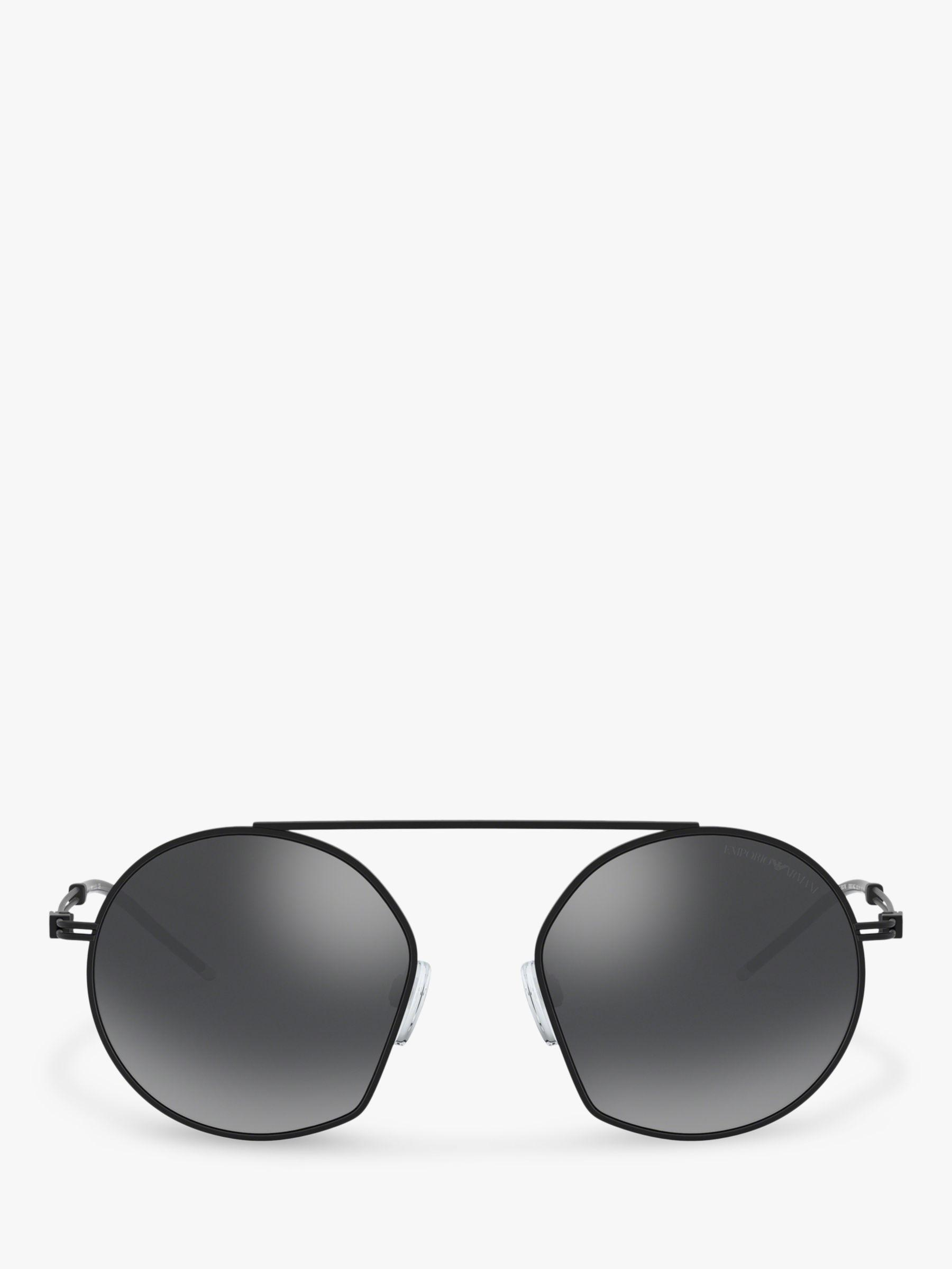 41a0c47a0b6b4 Emporio Armani - Black Ea2078 Men s Asymmetric Round Sunglasses for Men -  Lyst. View fullscreen