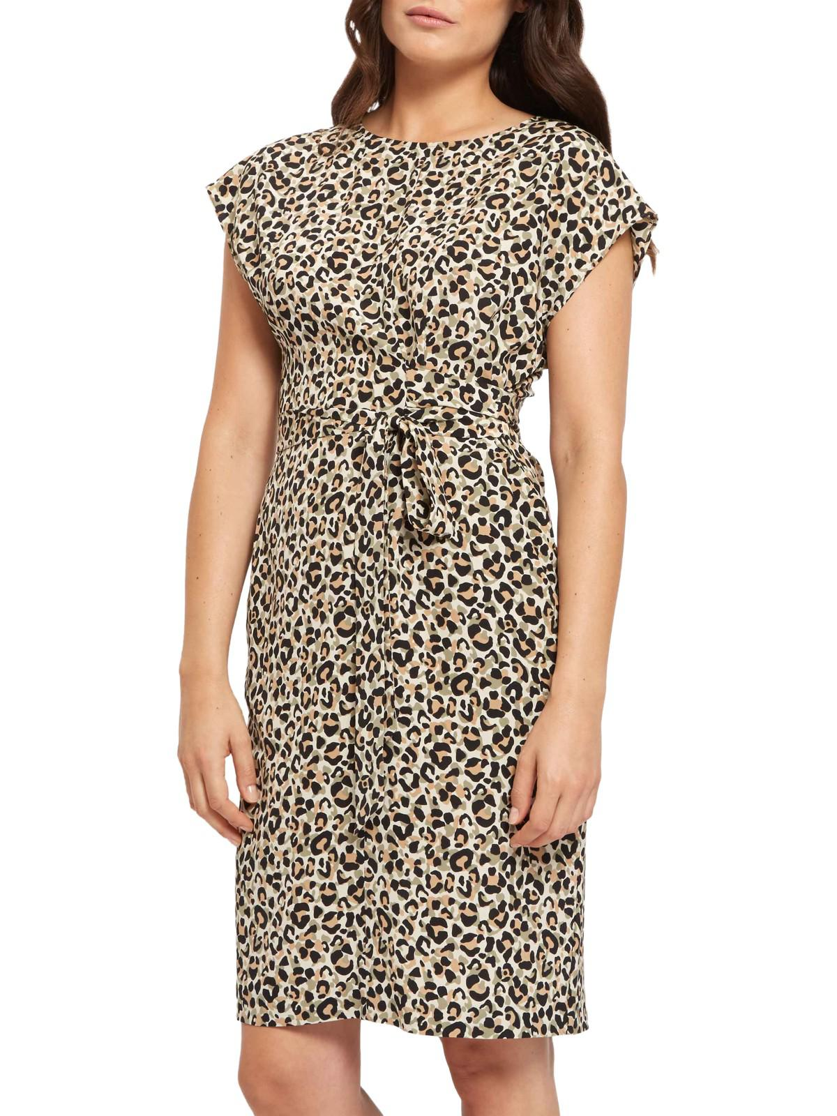 Jaeger Silk Leopard Print Wrap Dress in Black - Lyst 1ee6c59c8