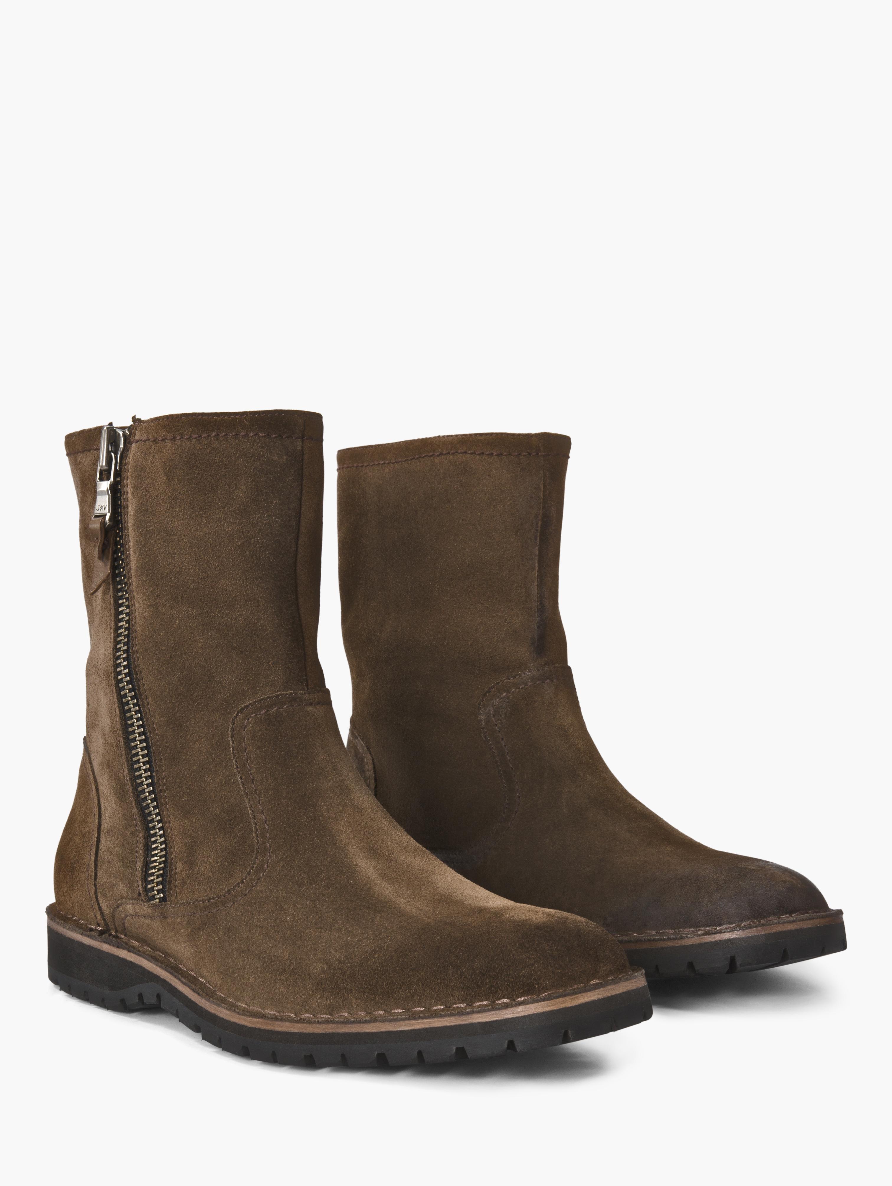lyst john varvatos hipster roccia slouch zip boot in