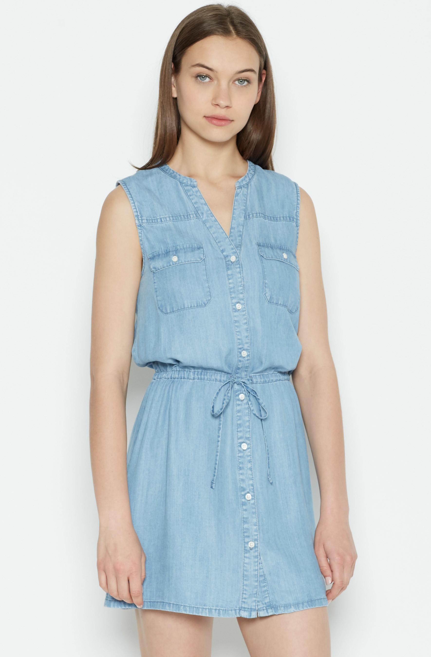 Lyst joie tawna chambray dress in blue for Chambray dress